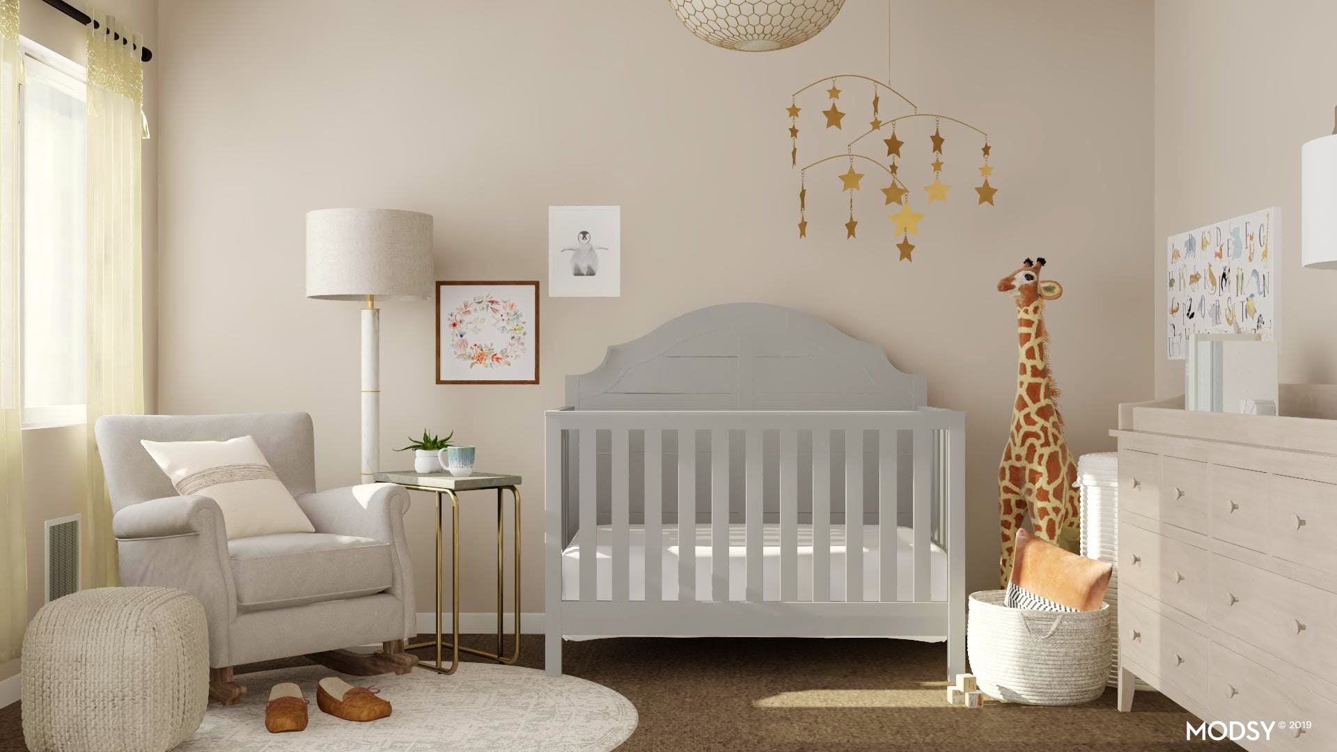 A Classic Nursery With Neutral Color