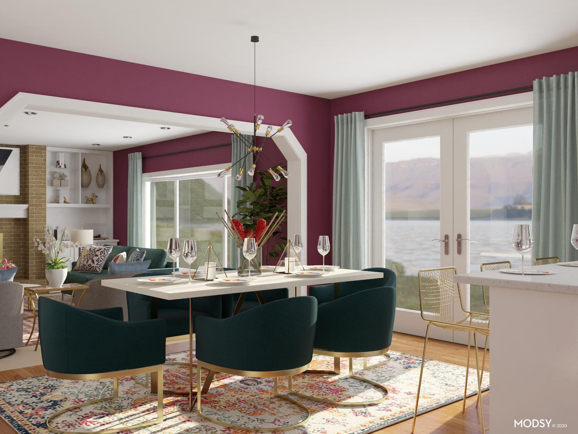 Jewels & Gold: Dining Room
