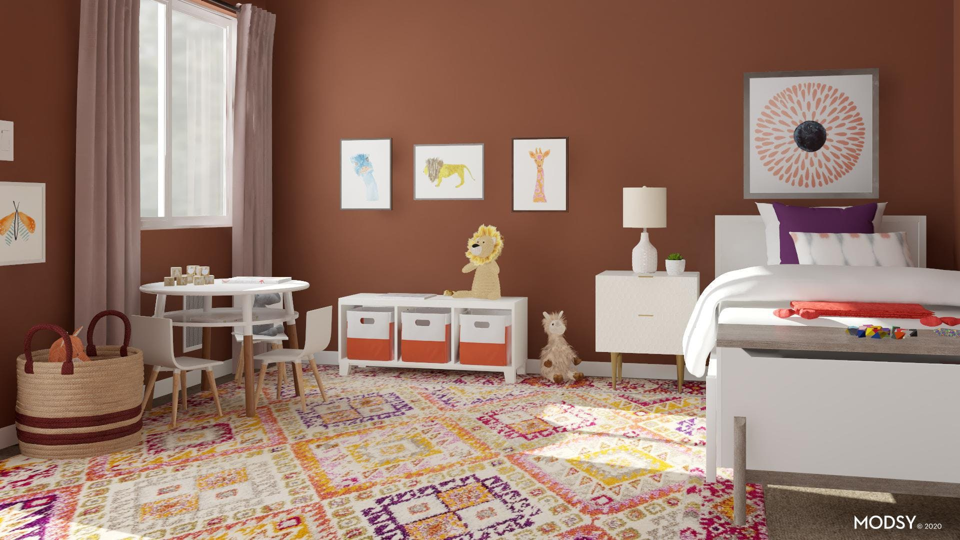 Bold Contemporary Kids Bedroom