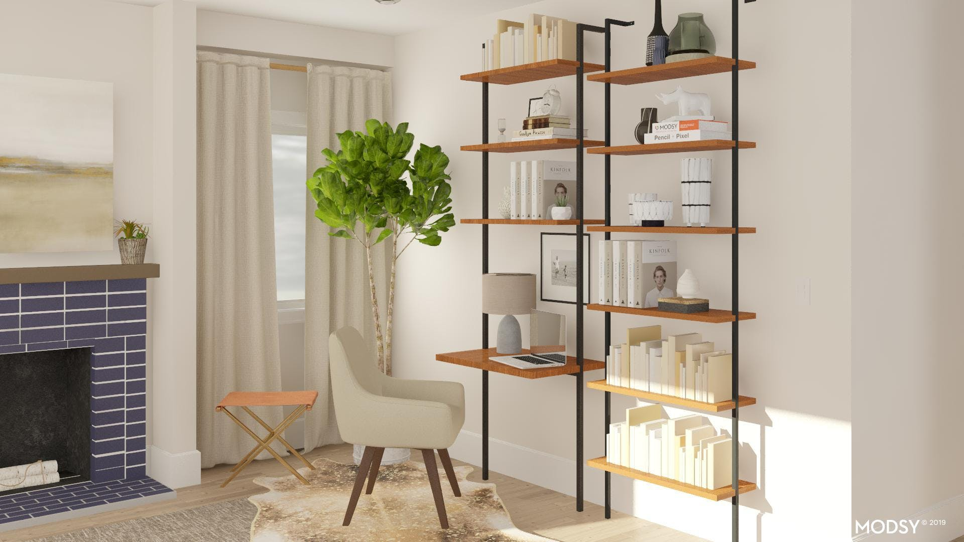 A Desk And Bookshelf In One