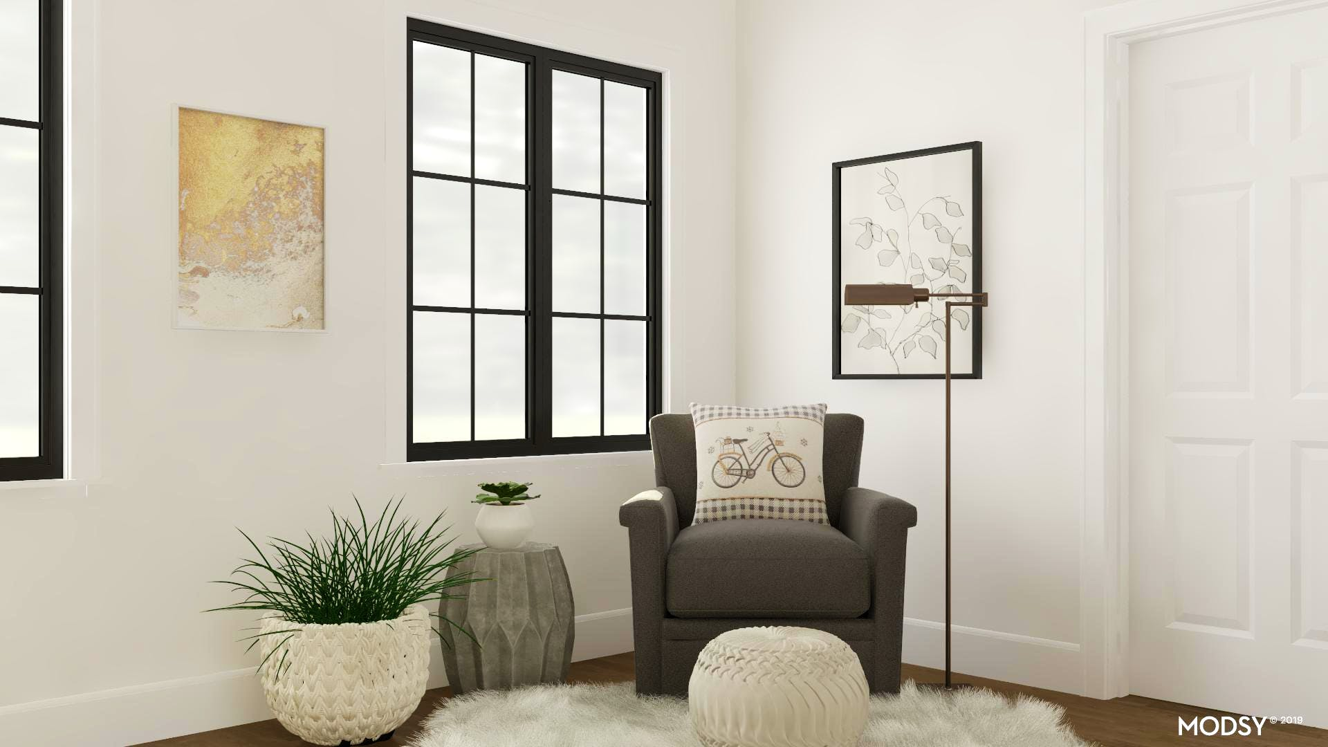 Neutral Reading Nook