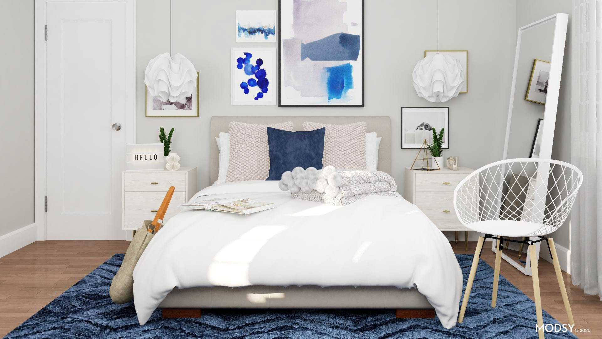 Modern Blues: Kids Bedroom Design