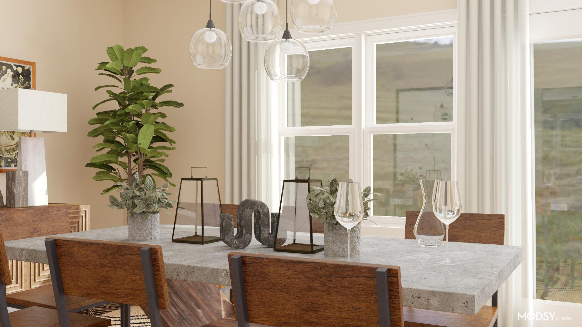 Line Expression: Industrial Dining