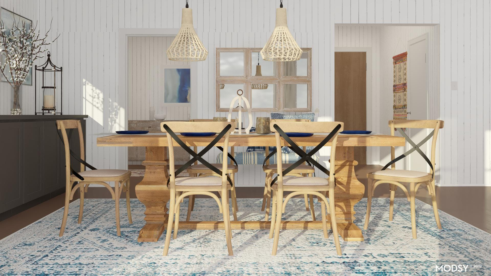 Cool And Warm Dining Room