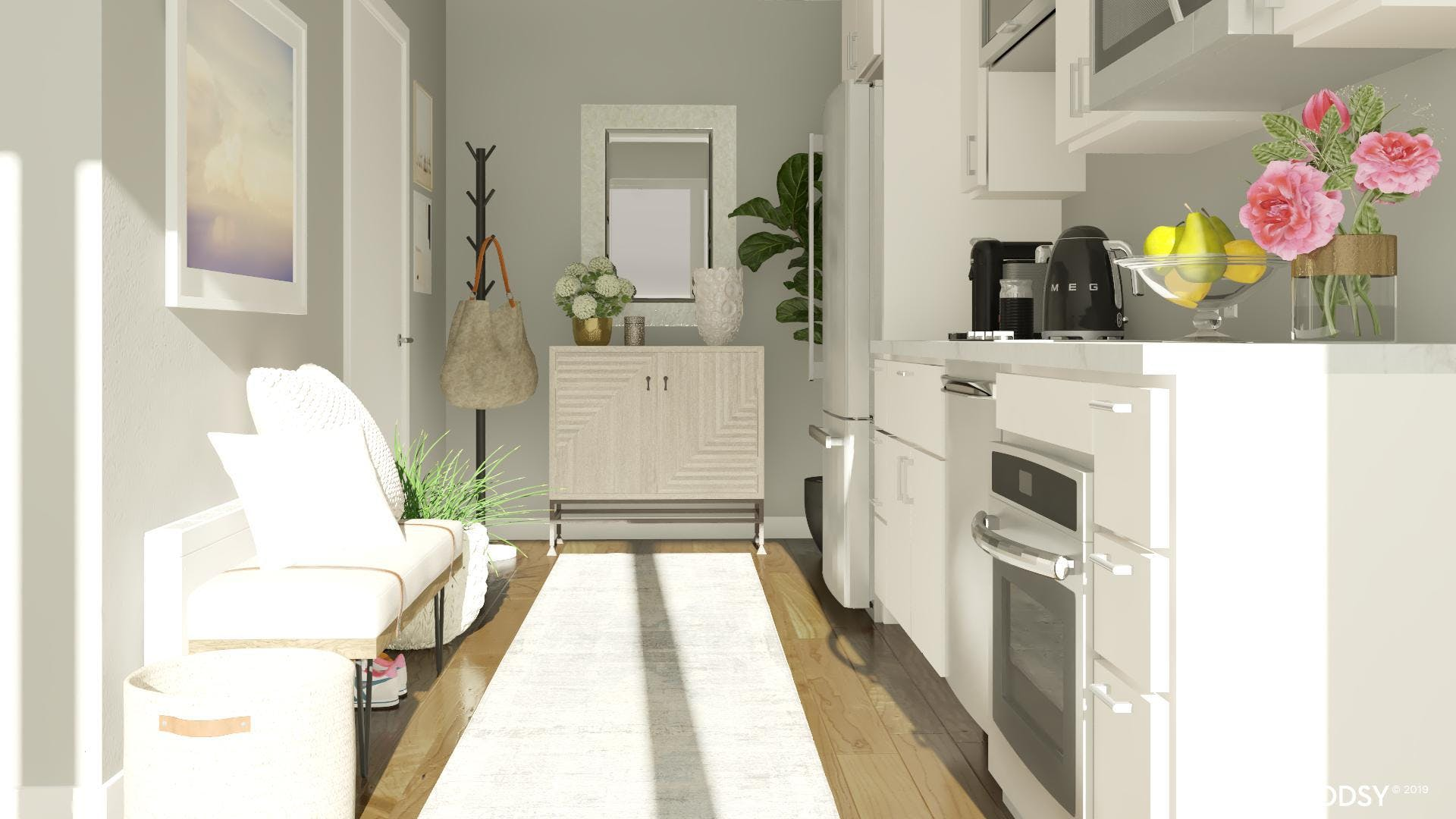 Compact Neutral Entryway