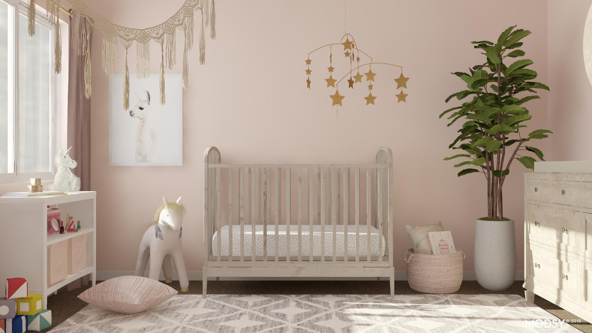 Rustic and Pink Nursery