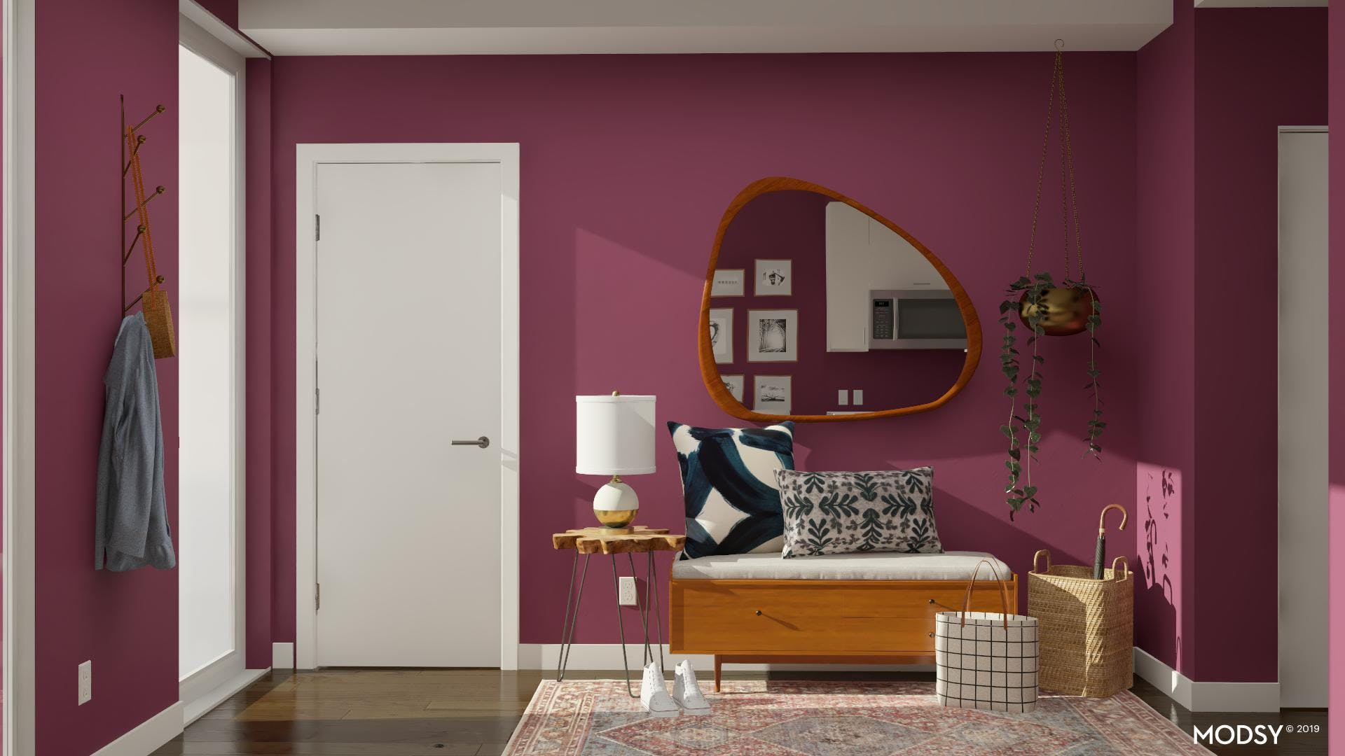 Bold Color Meets Mid-Century Modern