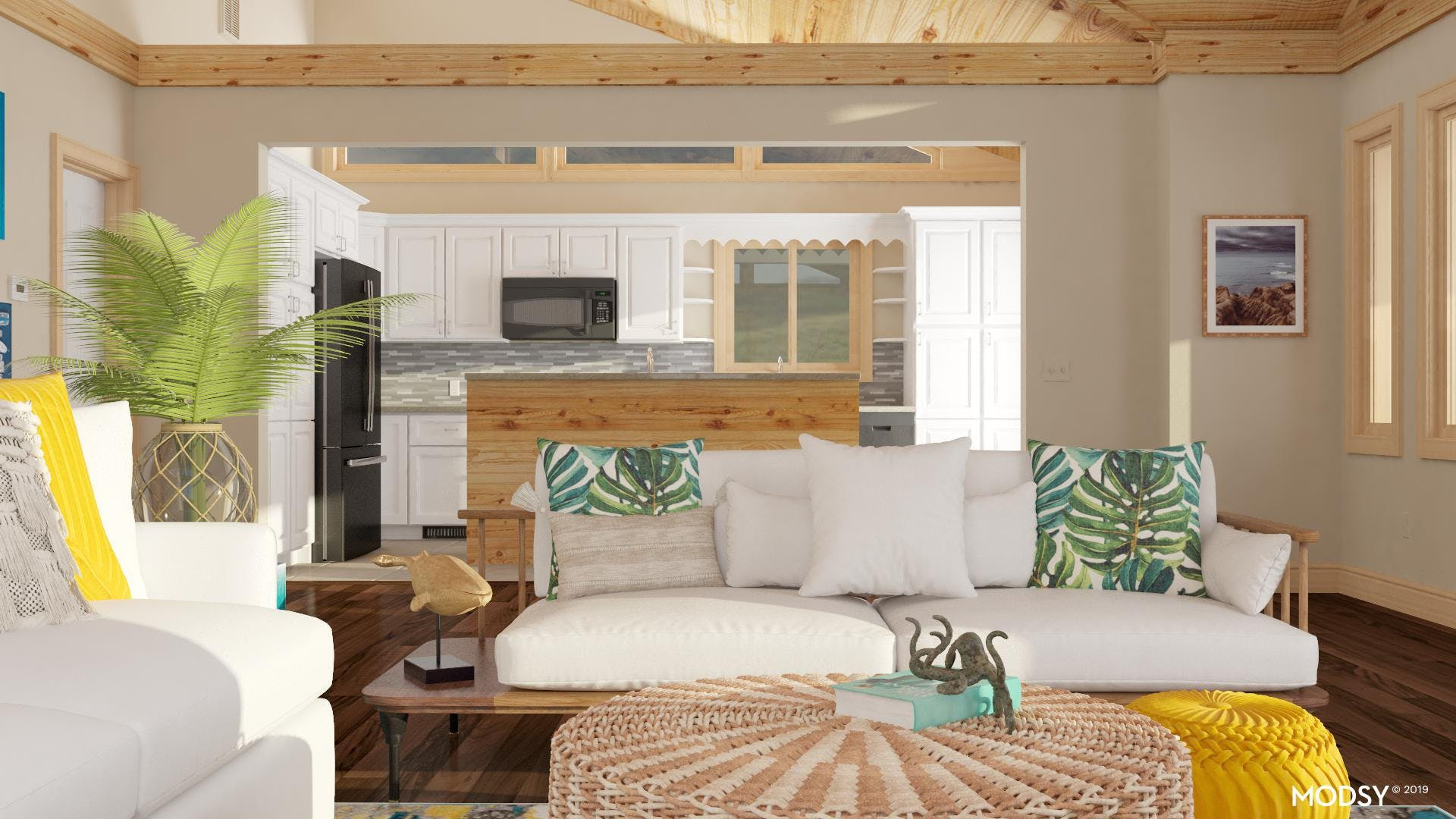 Natural And Nautical Living Room
