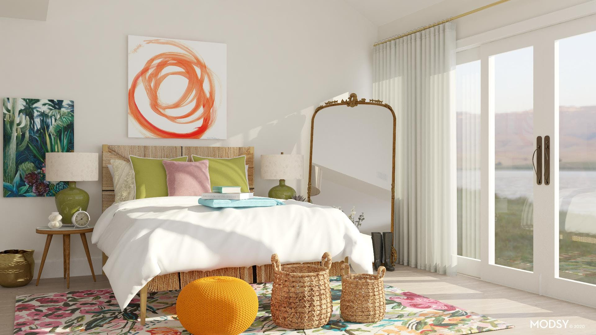 Expressive Eclectic Bedroom