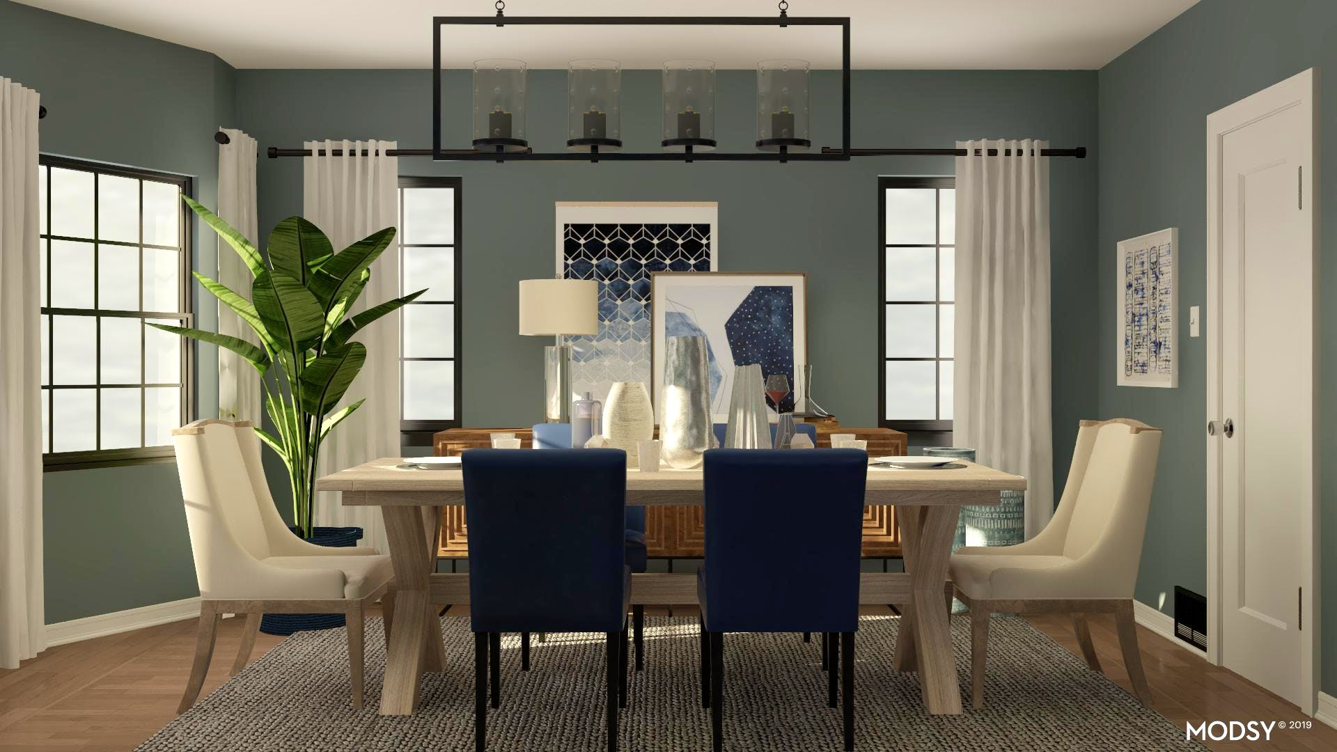 Beautiful in Blue Dining Room