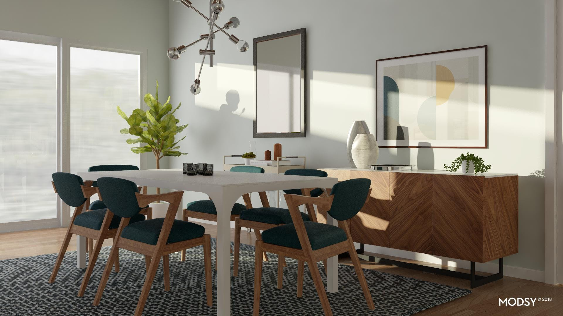 Mixing Modern Shapes In A Dining Room