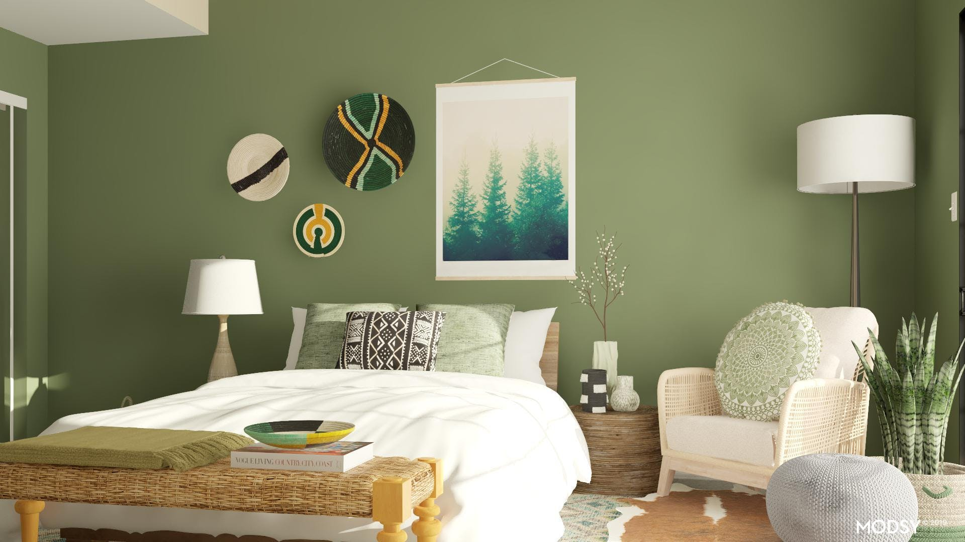 Green Forest Reading Nook