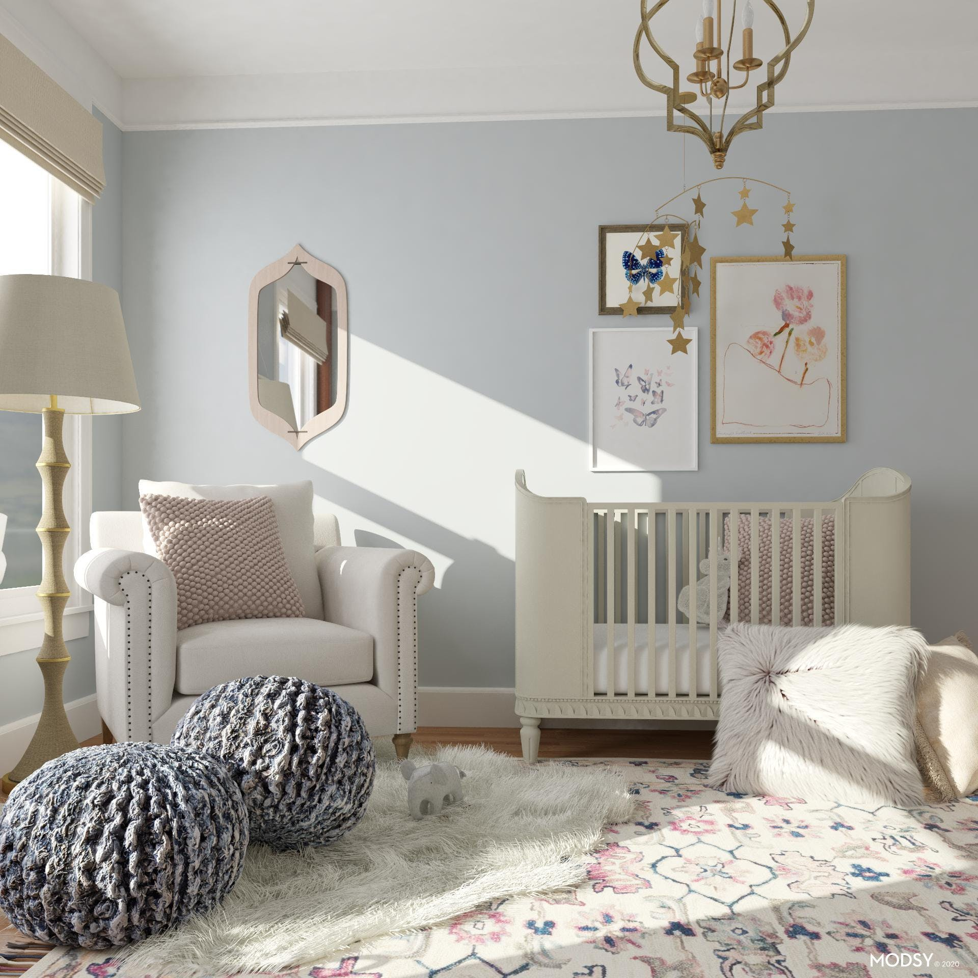 Layered Textures in Rustic Nursery