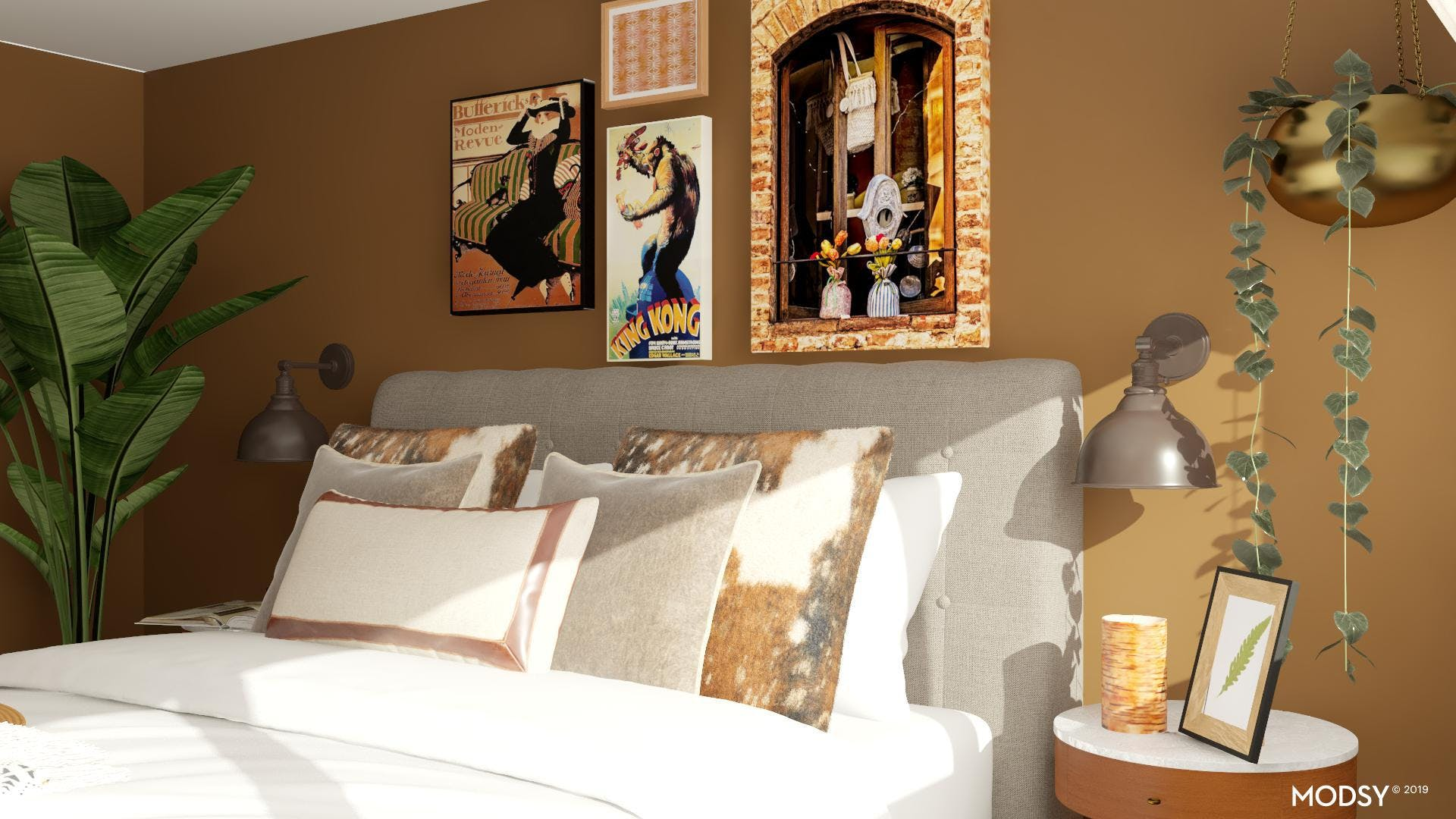 Space and Style in a Cozy Eclectic Bedroom