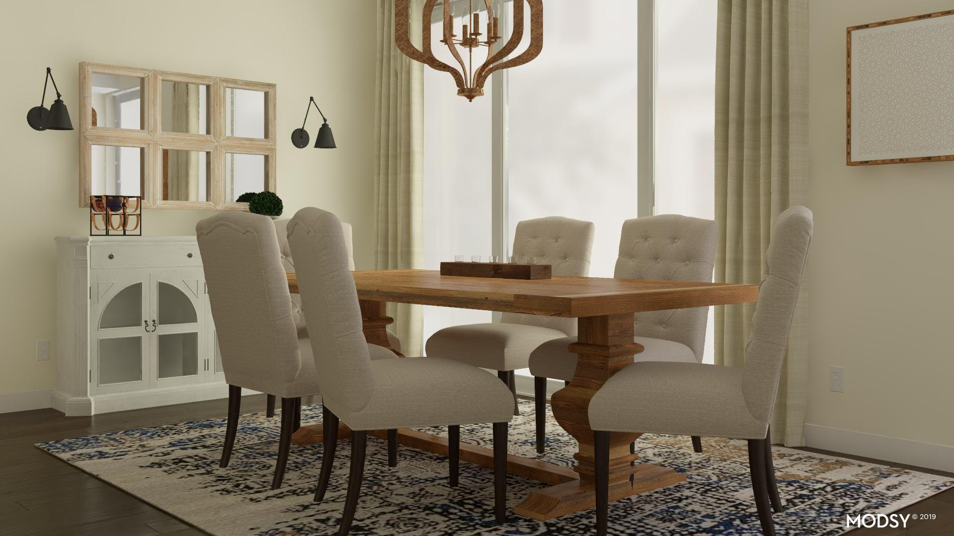 Neutral Rustic Dining Room