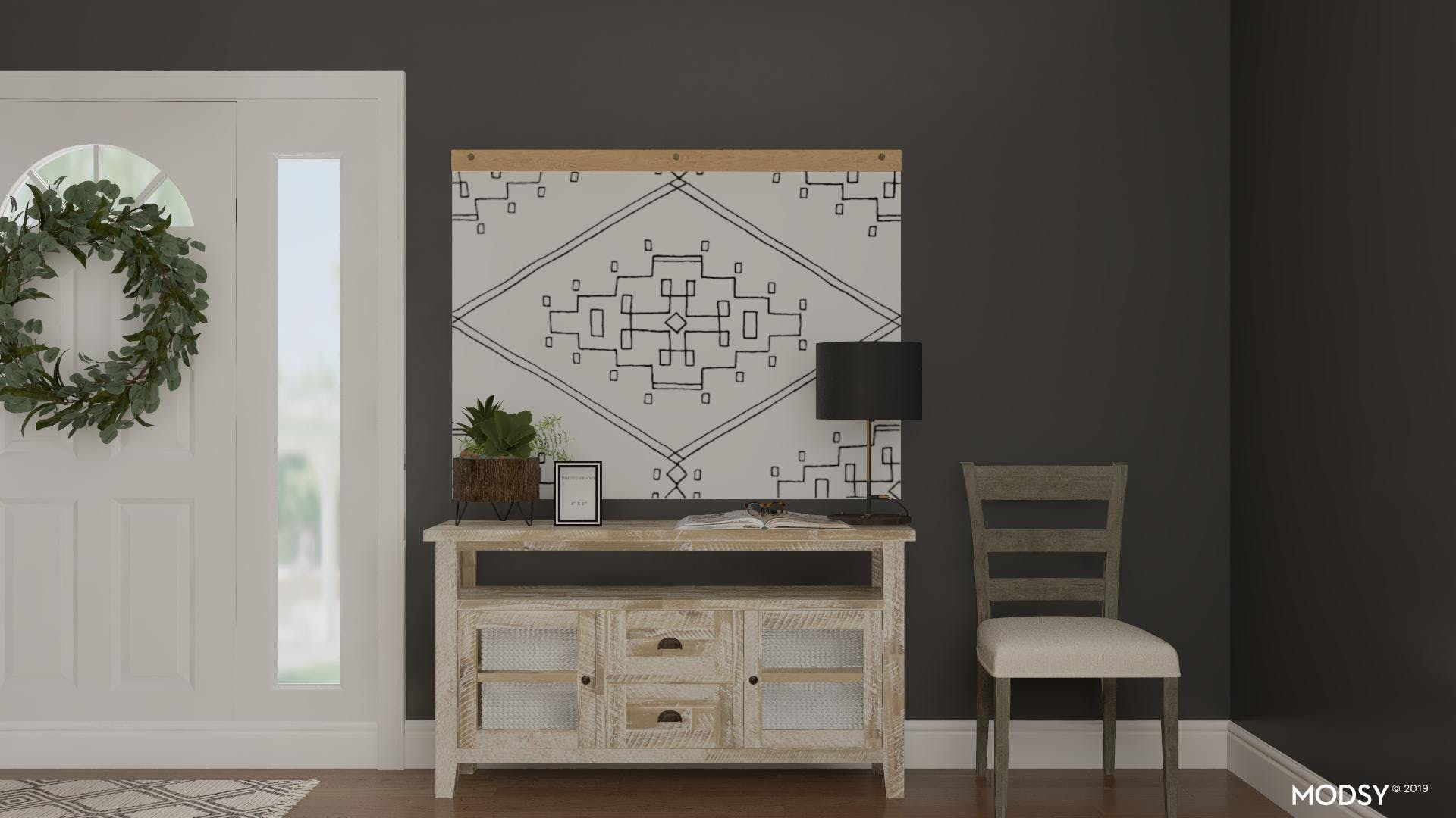 Rustic Black and White Entry