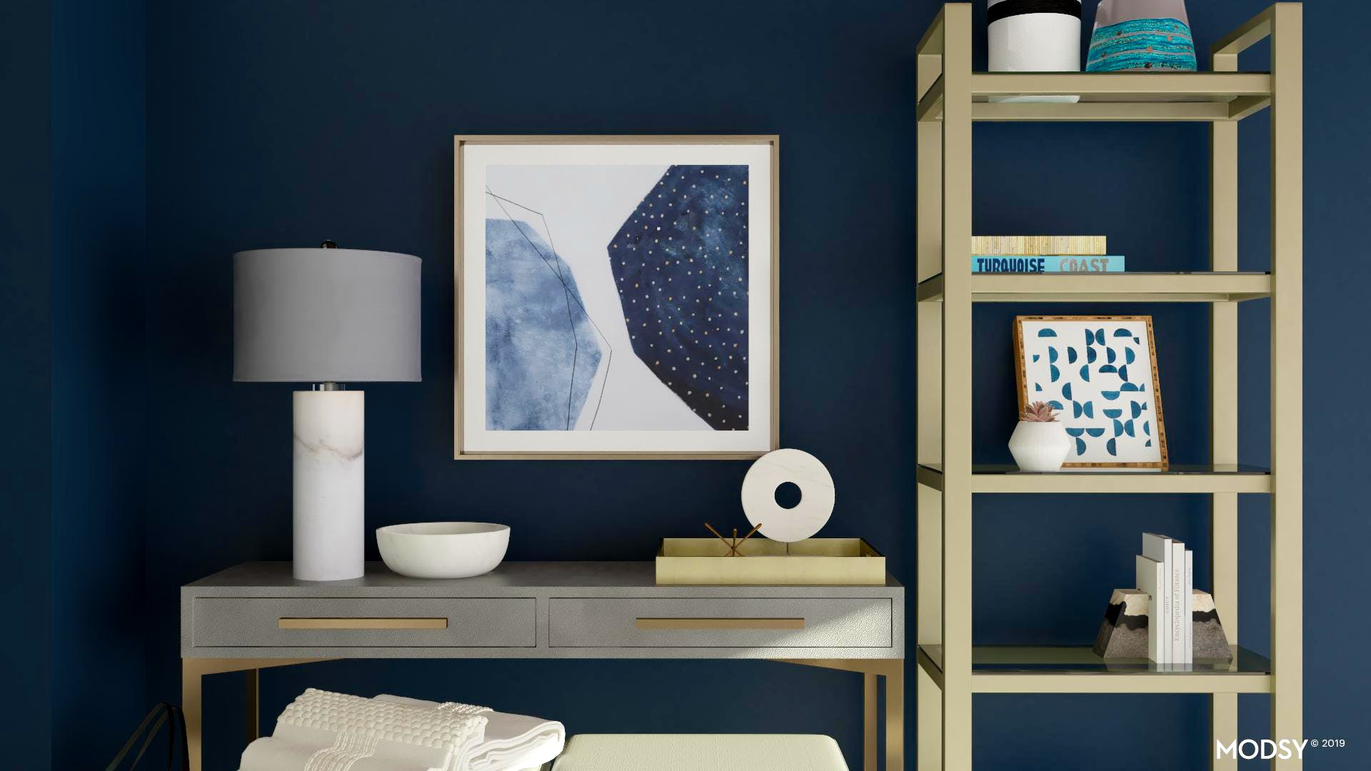 Modern Blue Entryway Accessories