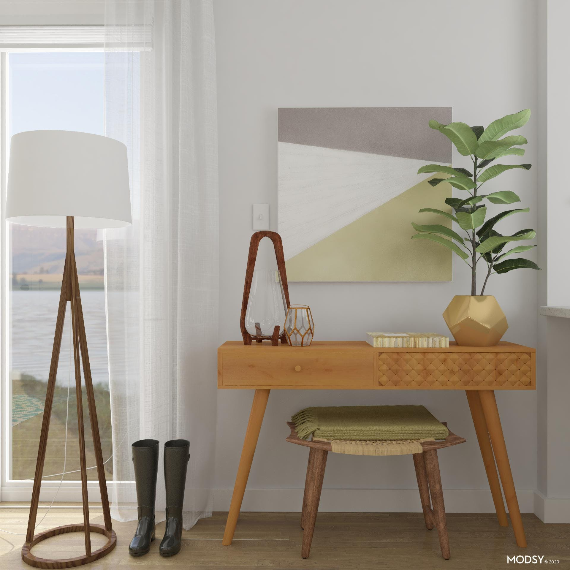 Styling A Mid-Century Modern Console