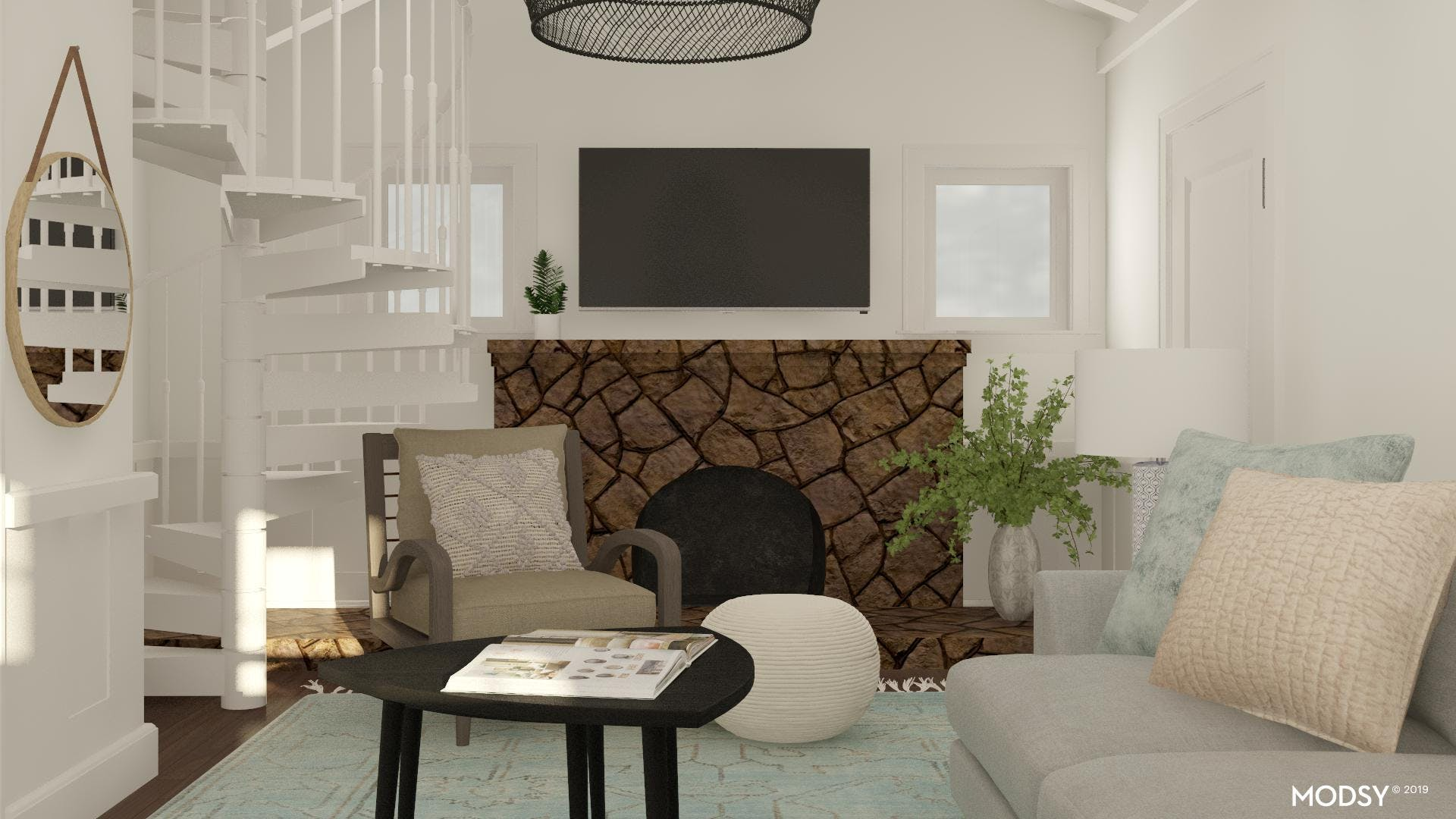 Simple and Compact: A Living Room