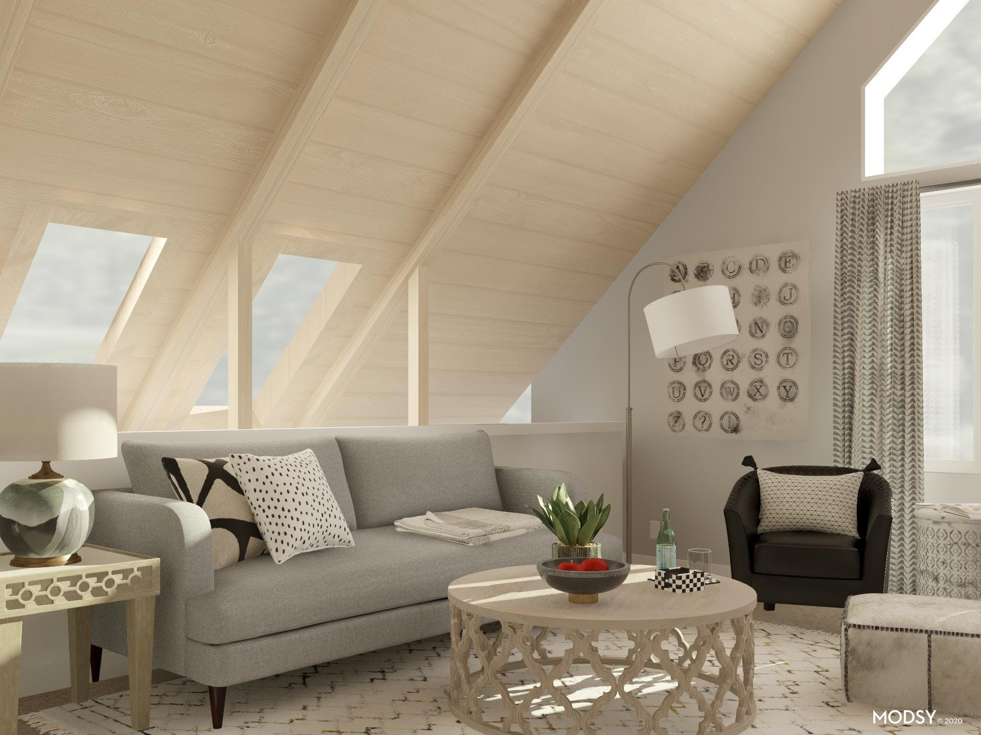 Living Space with a Soothing Palette