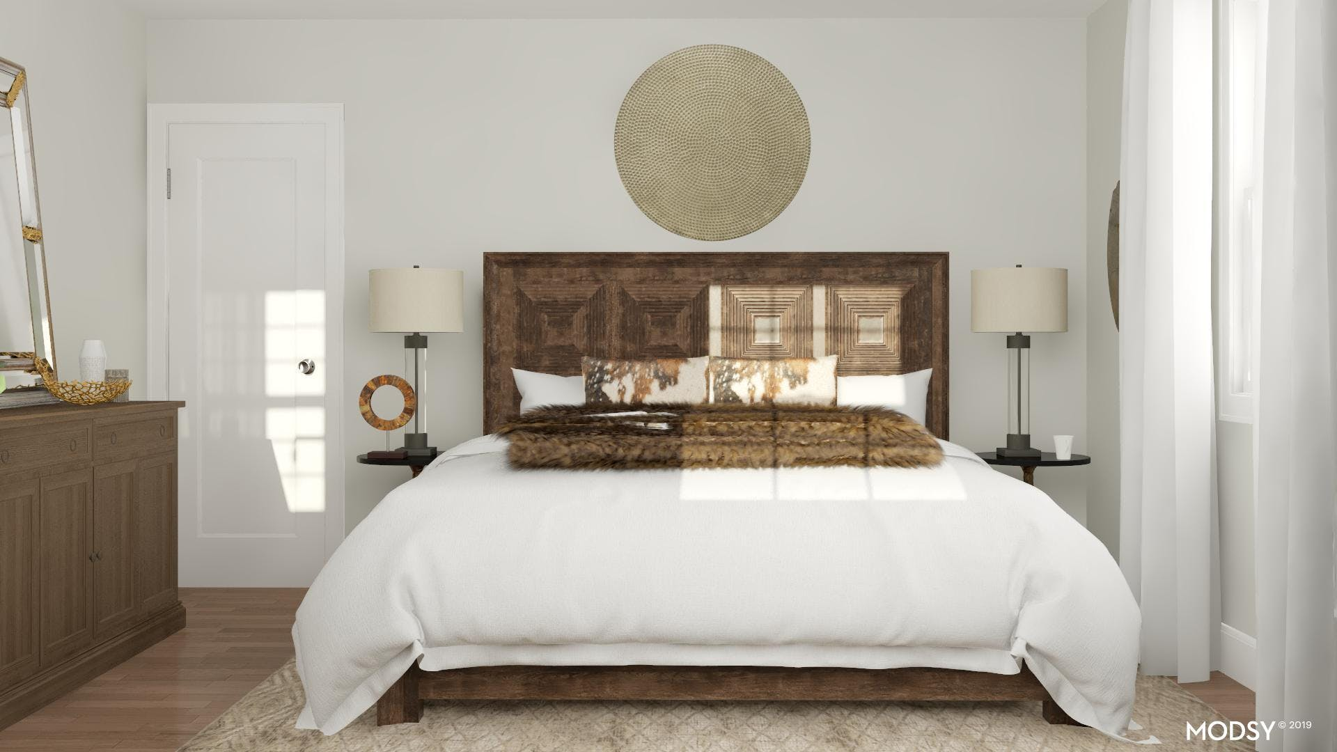 A Nature-Inspired Traditional Bedroom