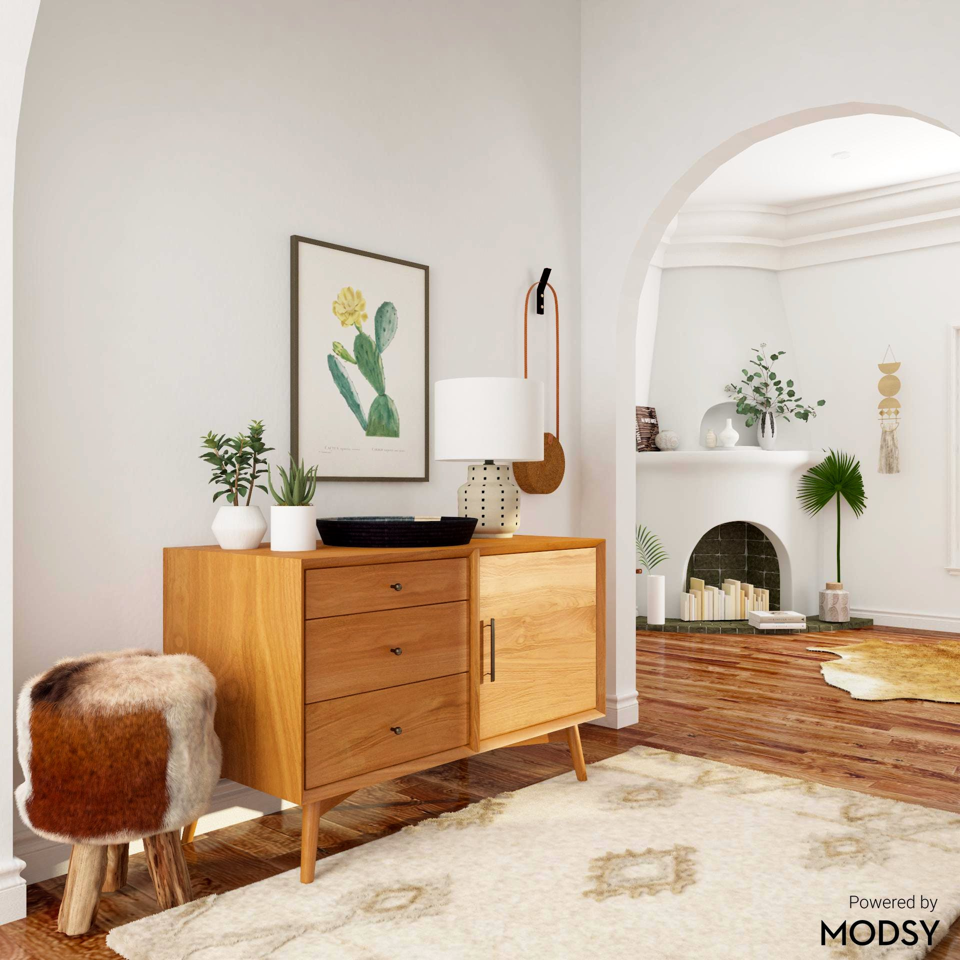 Eclectic Style Entryway with Chraming Collection of Homegoods