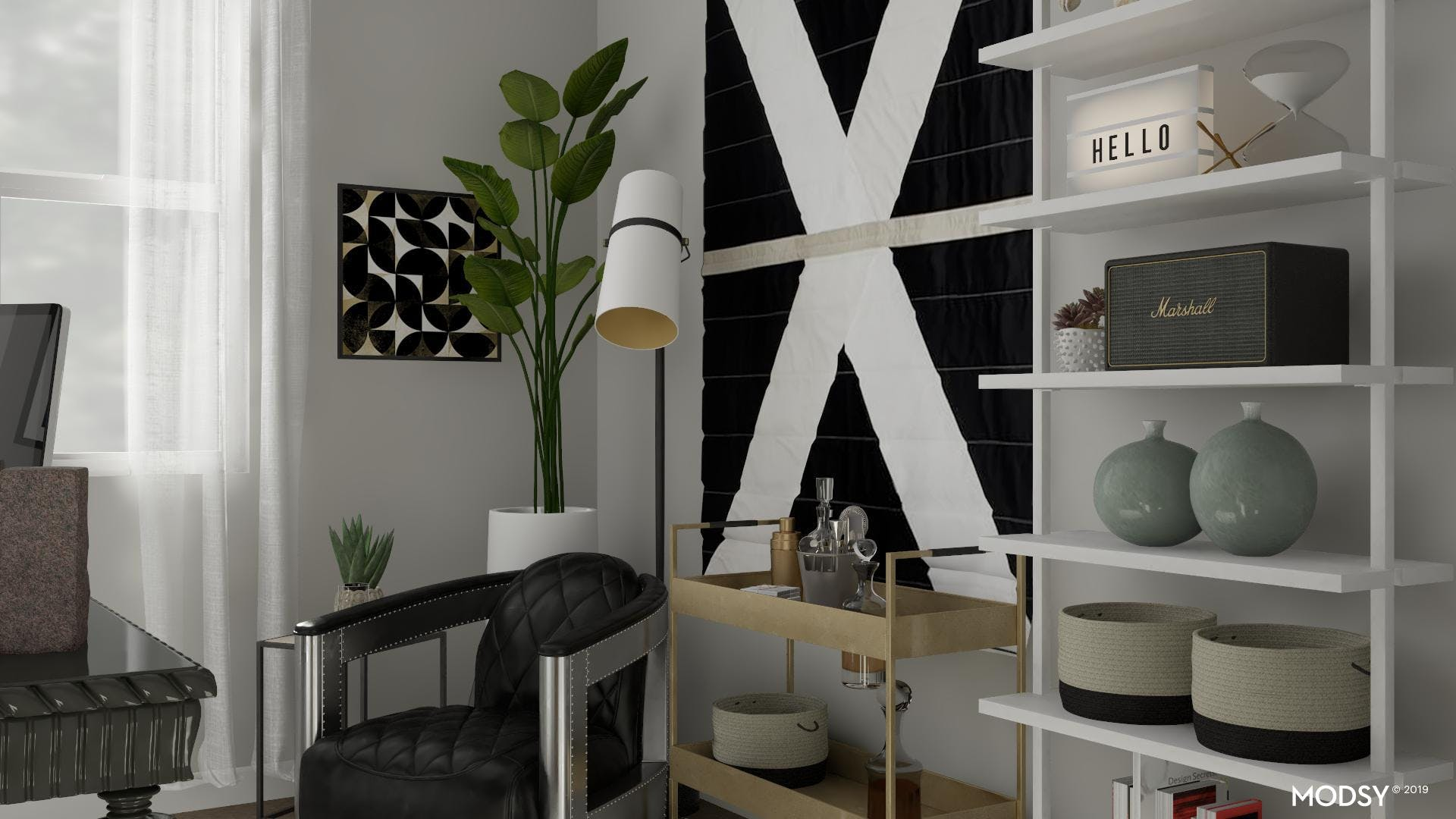 Relaxed Home Office