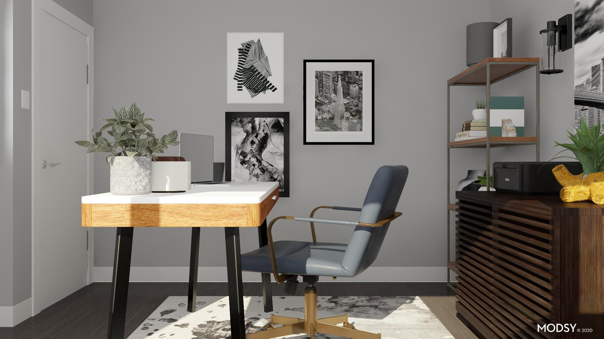 Gallery Wall: Industrial Office