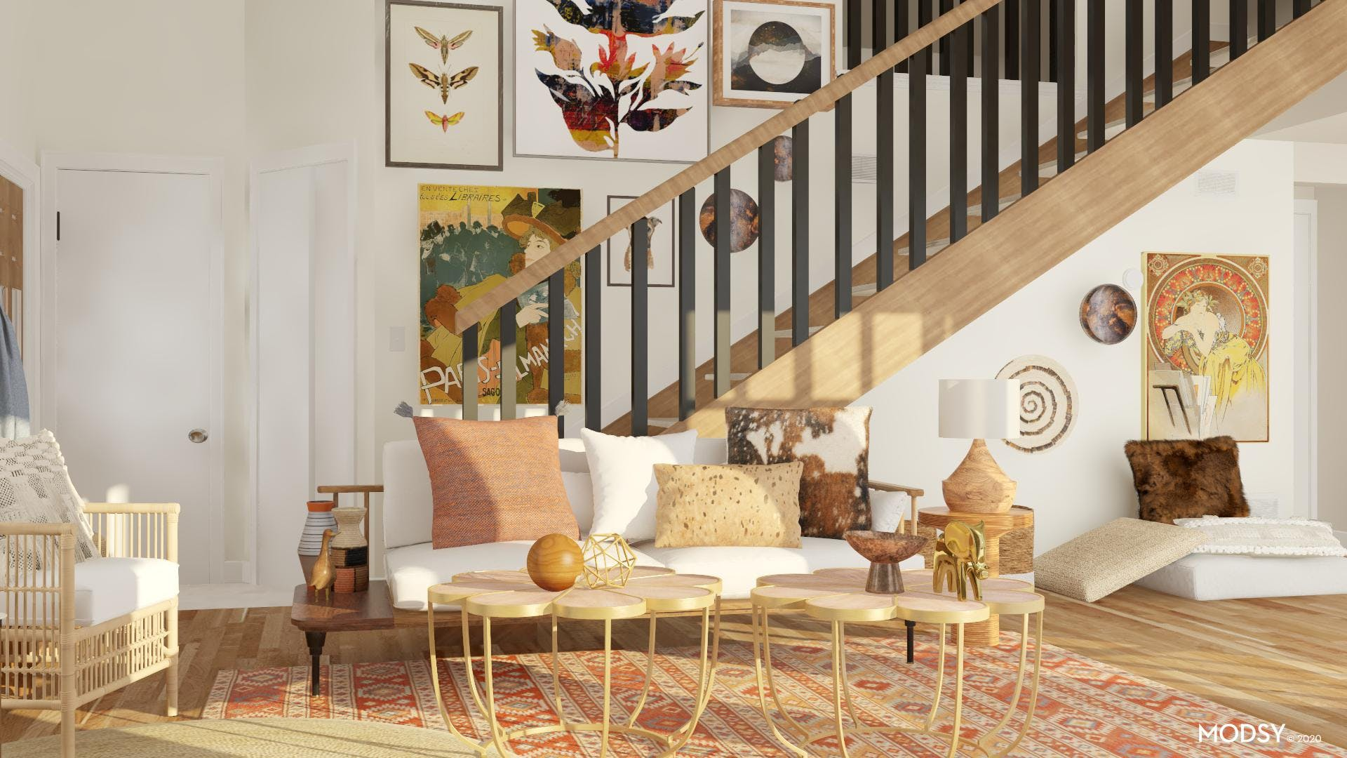 Eclectic and Earthy Living Room