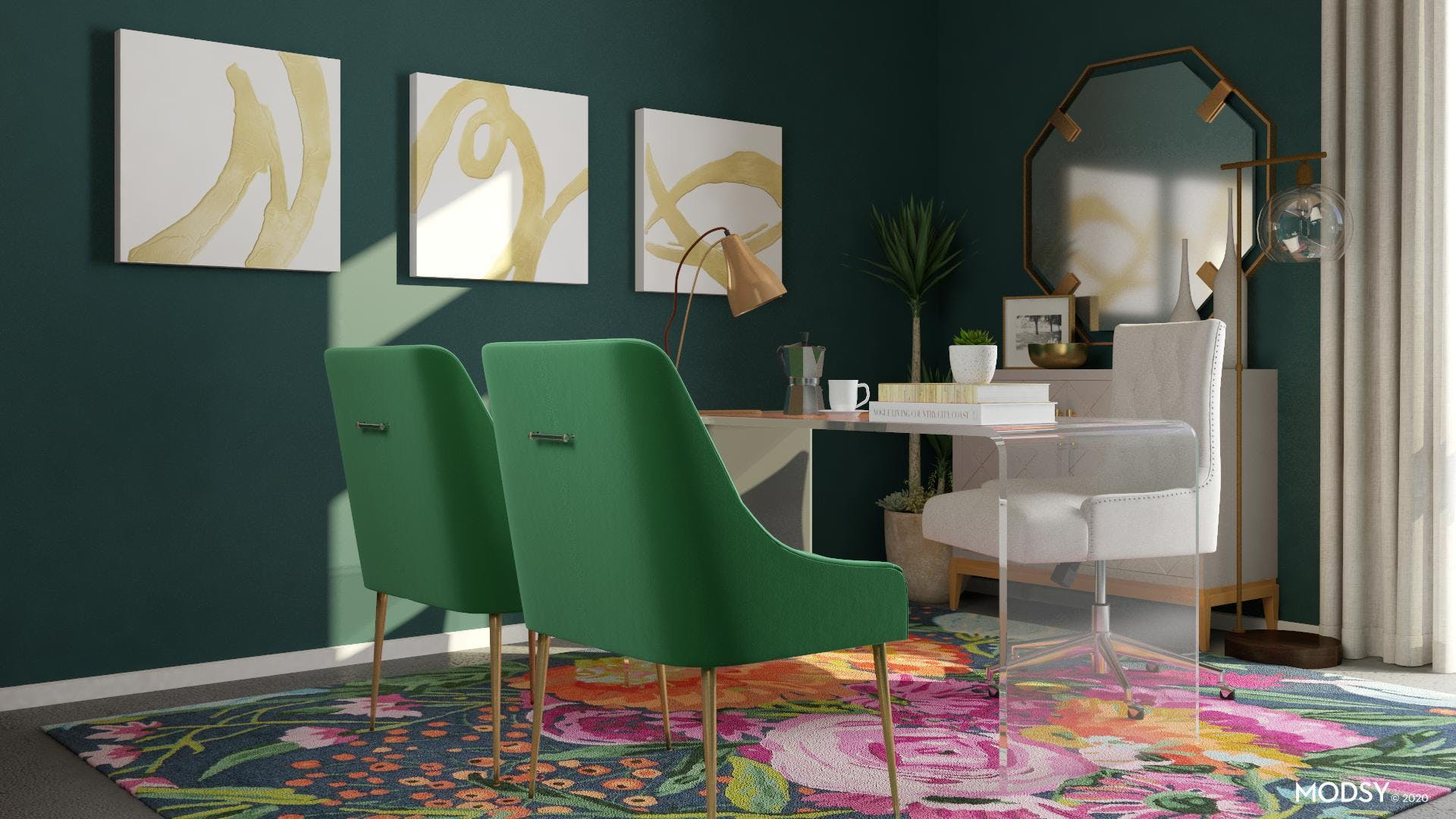Office for Glam Greens Lovers