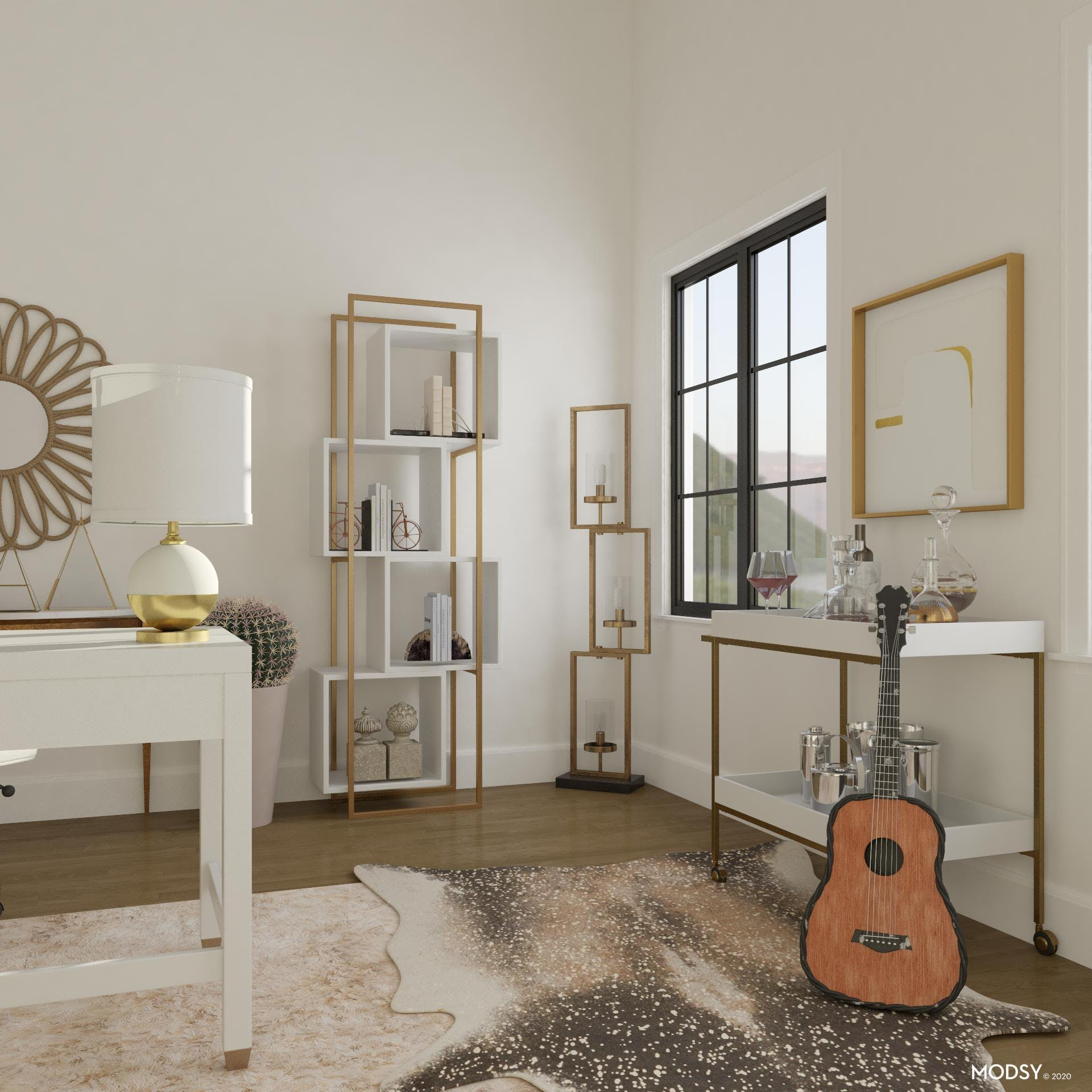 Neutral Glam Office.
