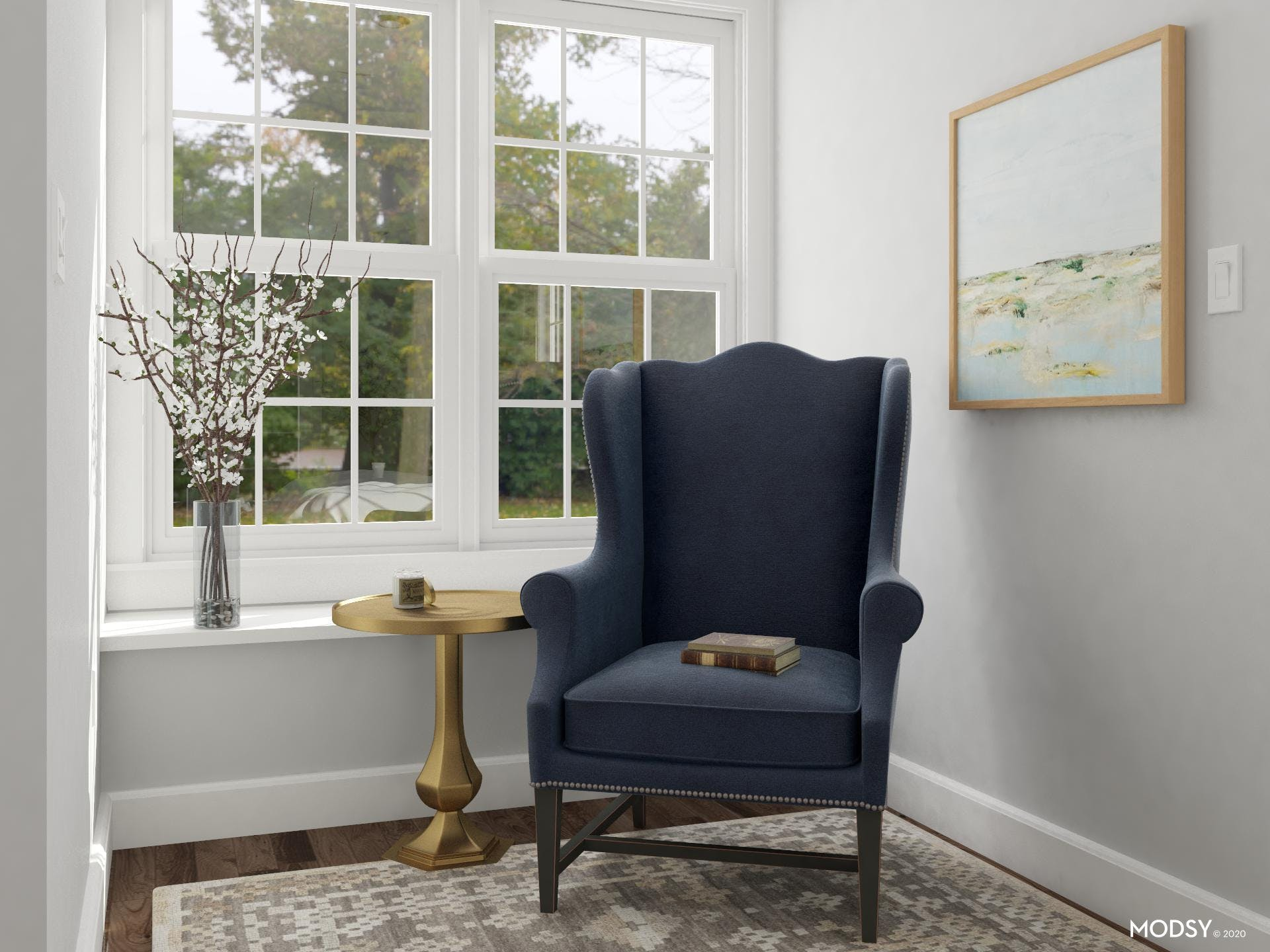 Classic Navy Wingback