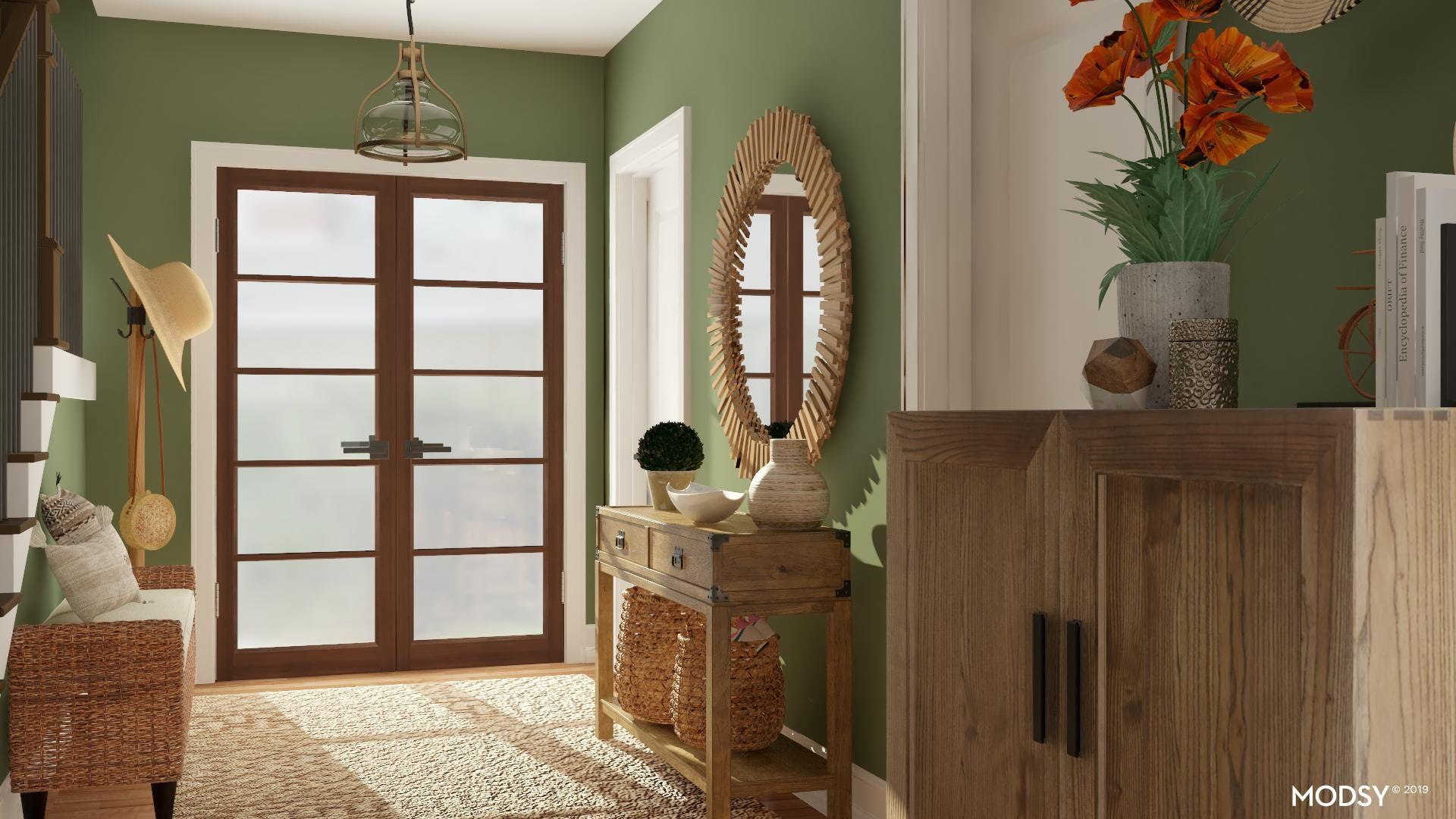 Bringing The Outdoors In: Rustic Foyer
