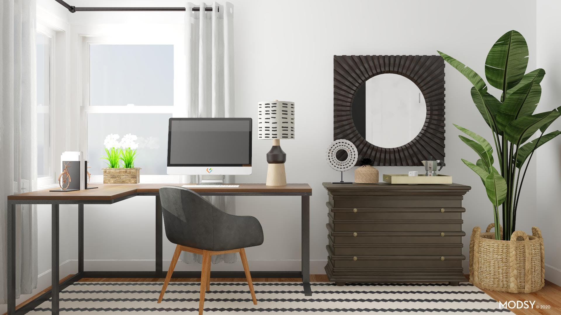 Dual Function: Eclectic Home Office