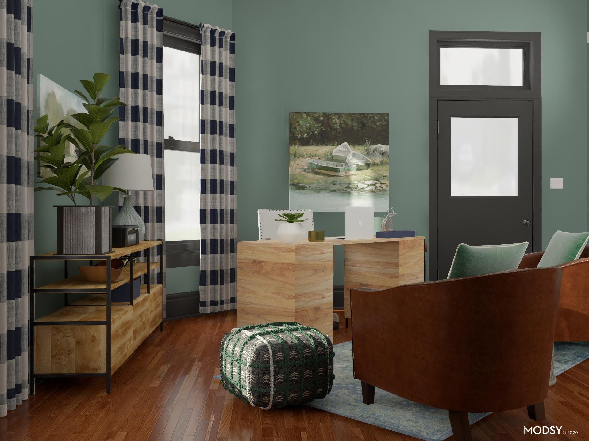 Rustic Start: Home Office