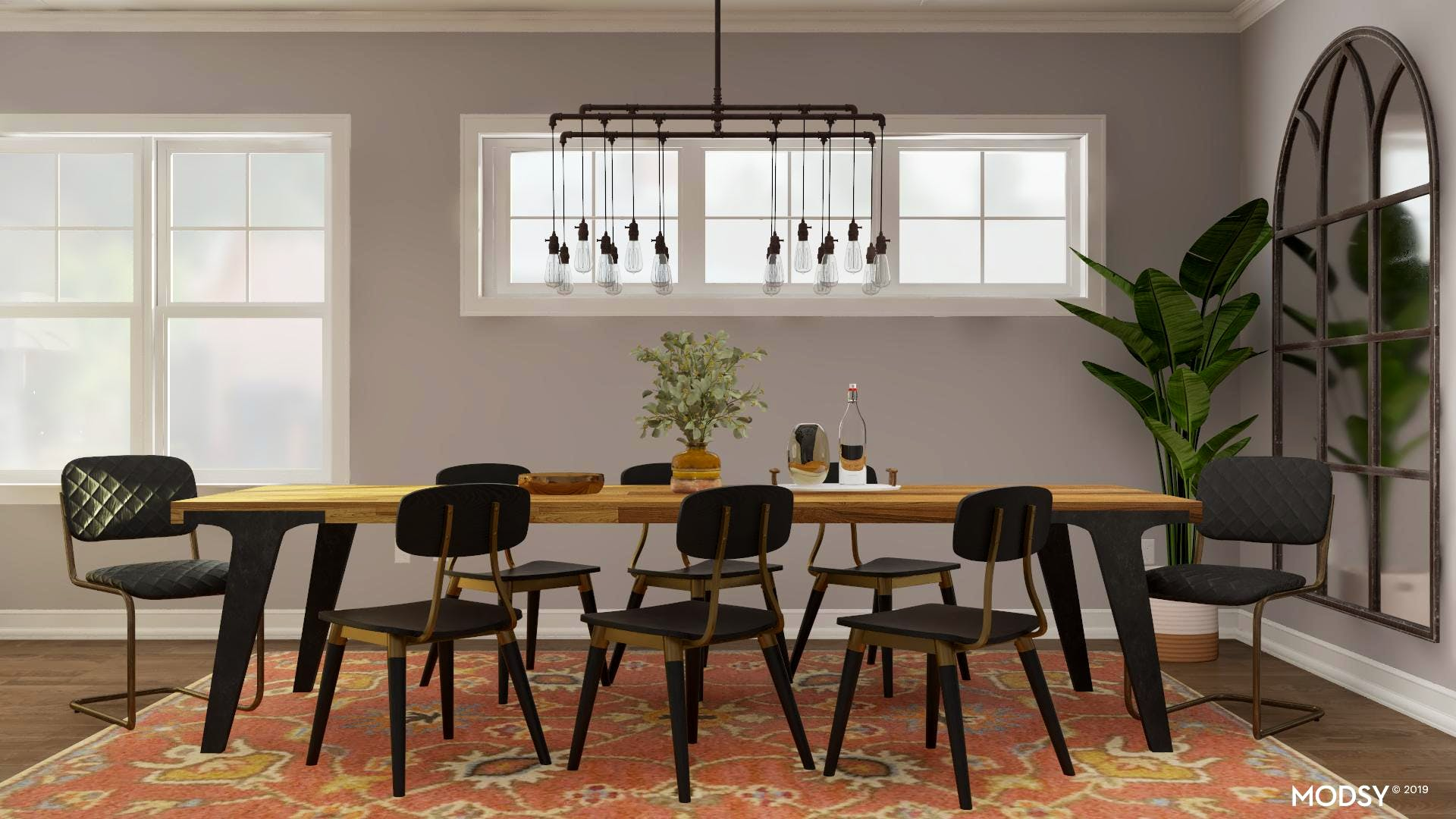 Modern + Earth Tones = Todays Dining