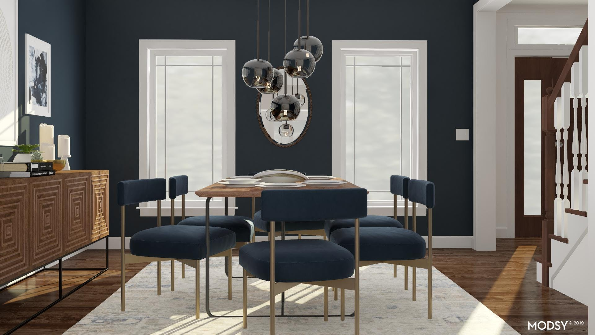 An Entertainers Dream - A Mid Century Mod Dining Room