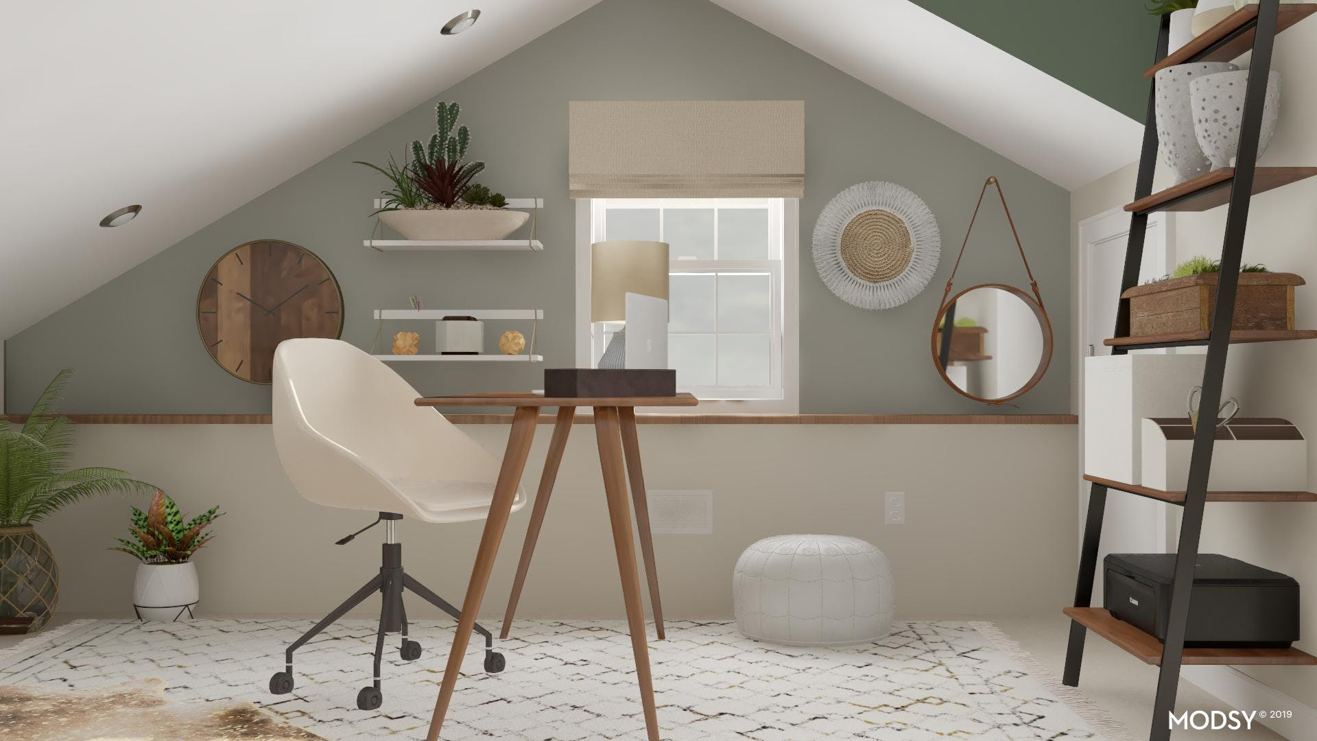 Go with the Flow: Sloped Ceilings