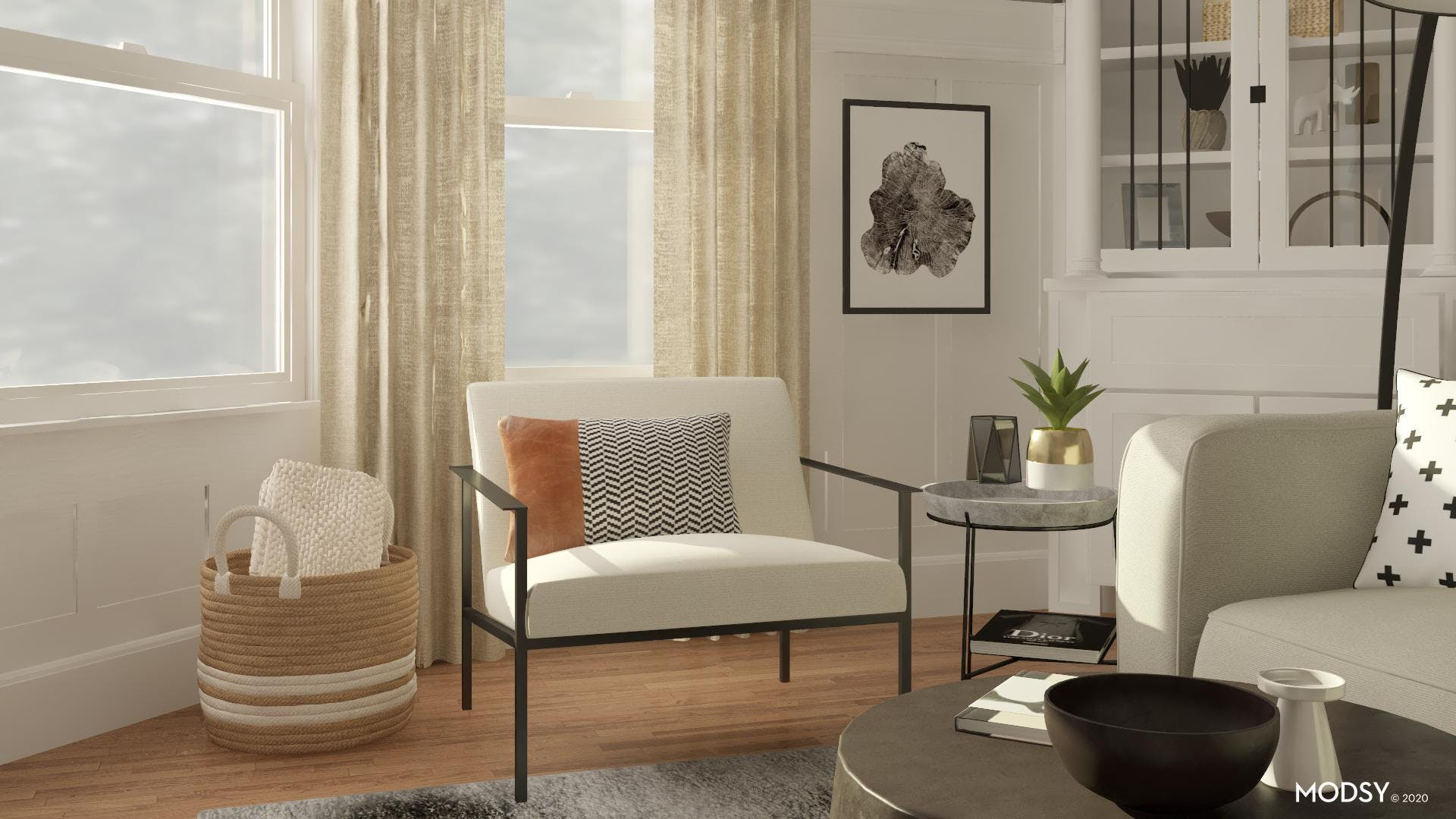 Natural and Effortless Modern Family Room