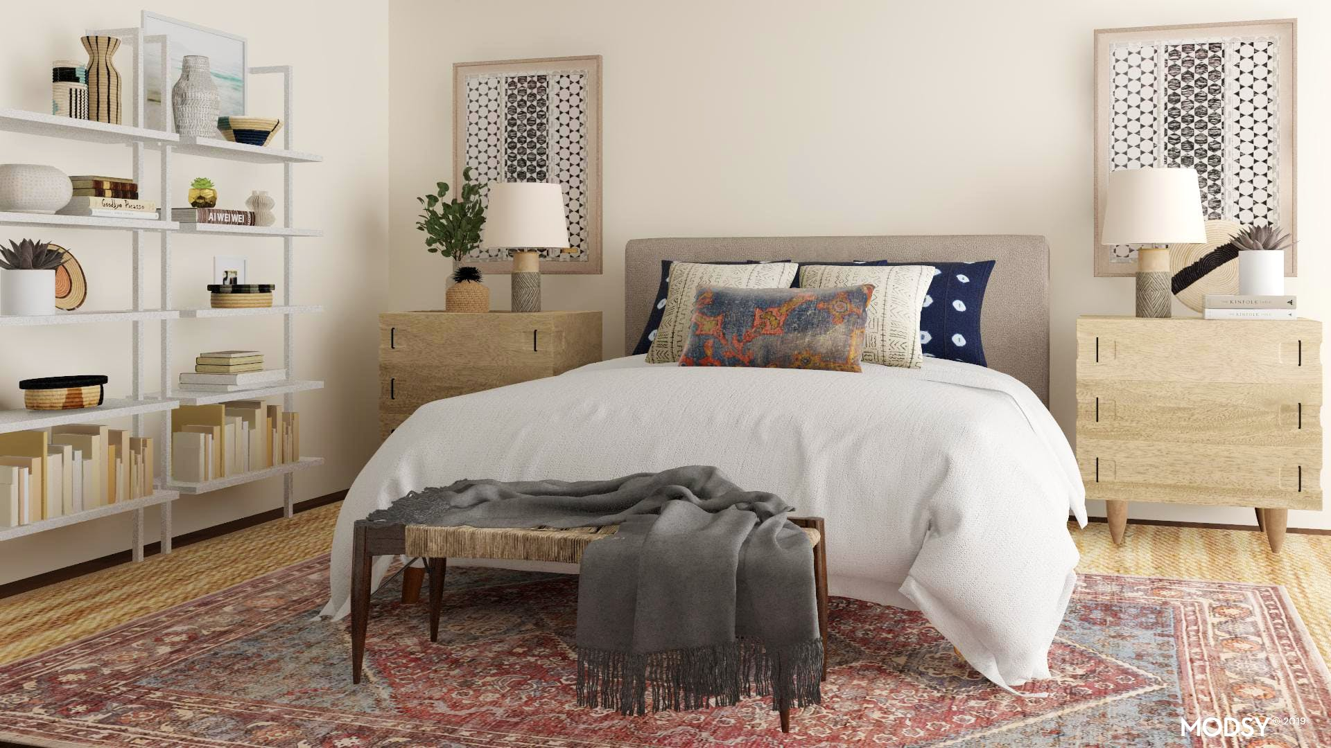 Relaxed Mid-Century Boho Bedroom