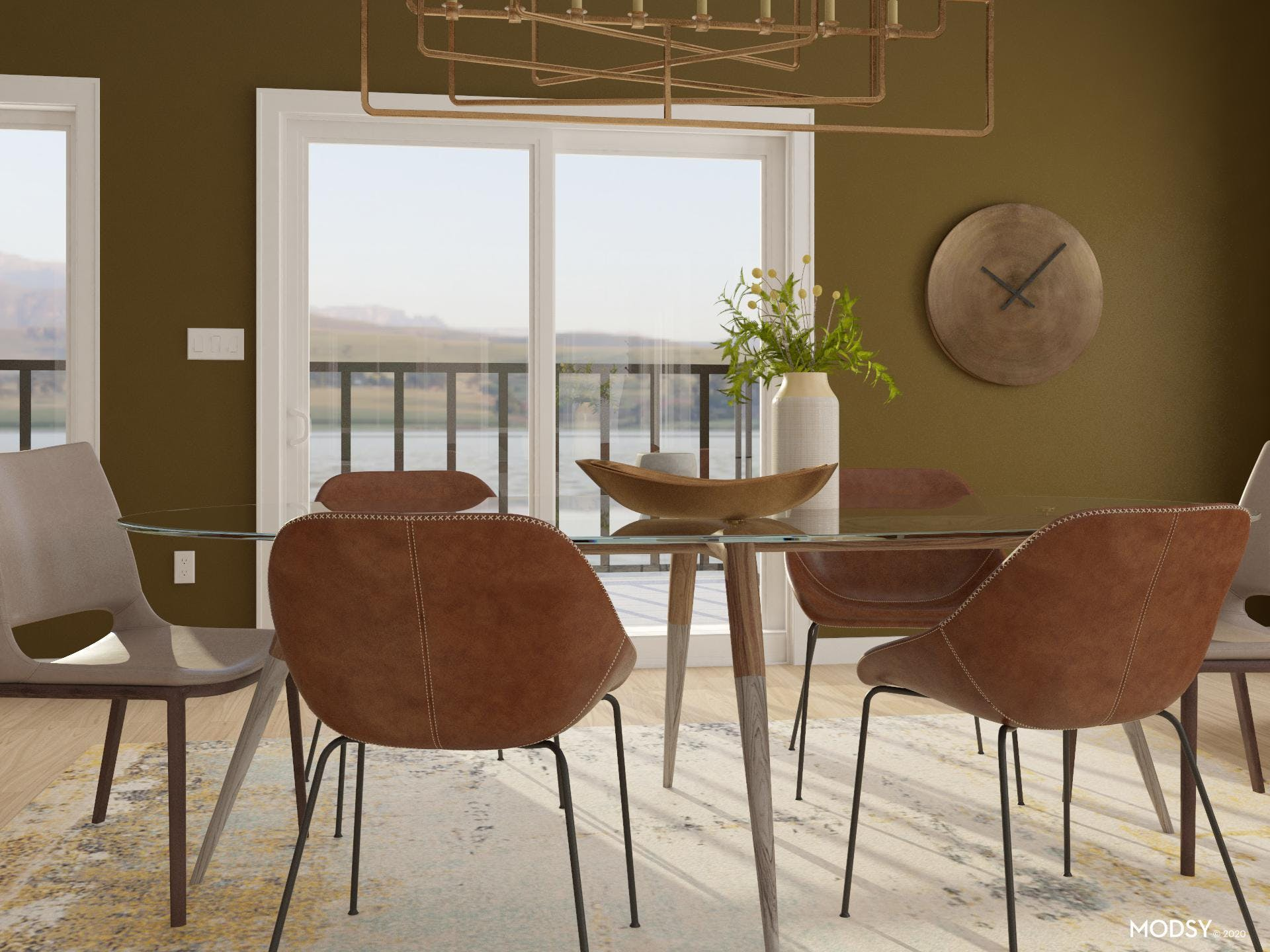 Earth Tones In Modern Dining Room