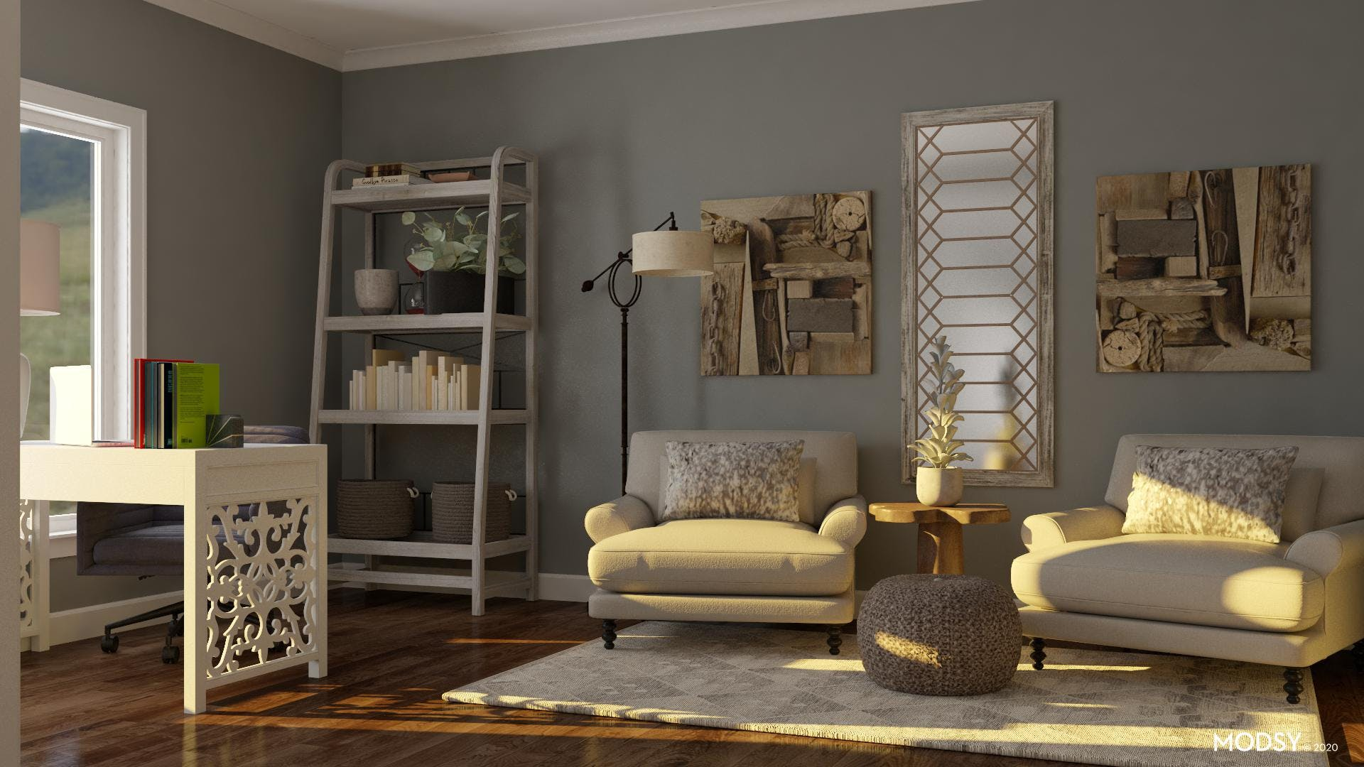 Muted Neutrals: Rustic Office