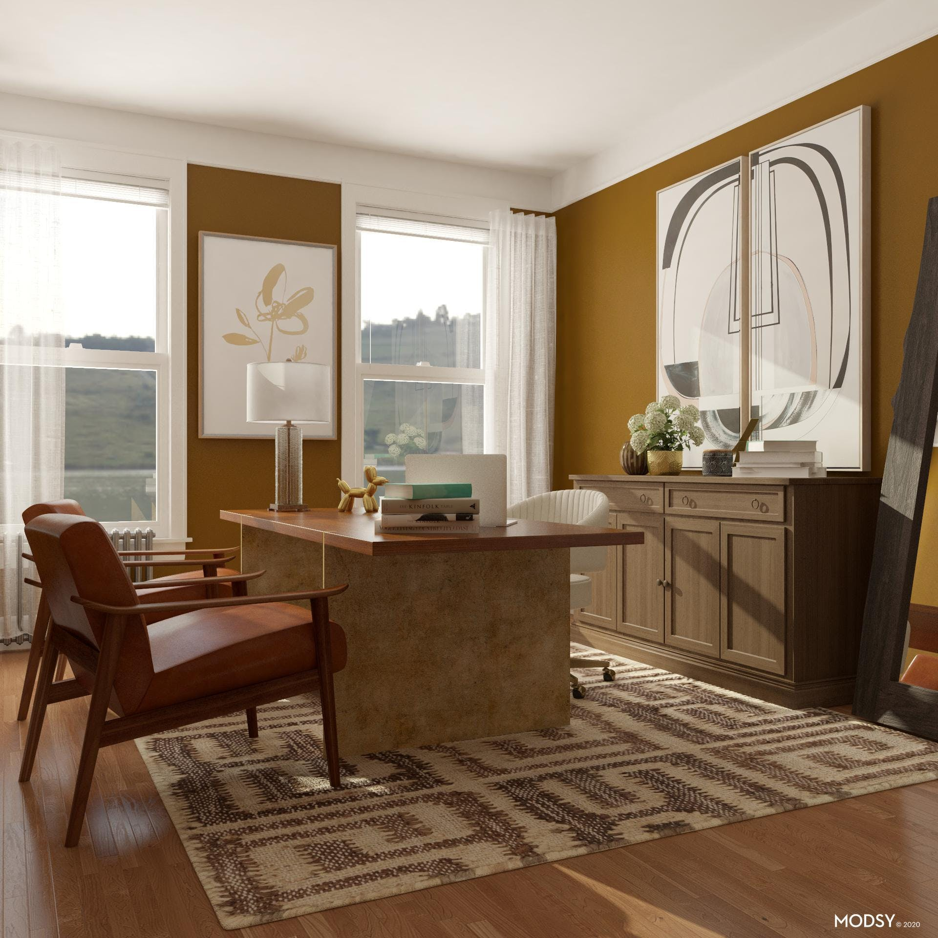 Transitional Office: Modern Elements