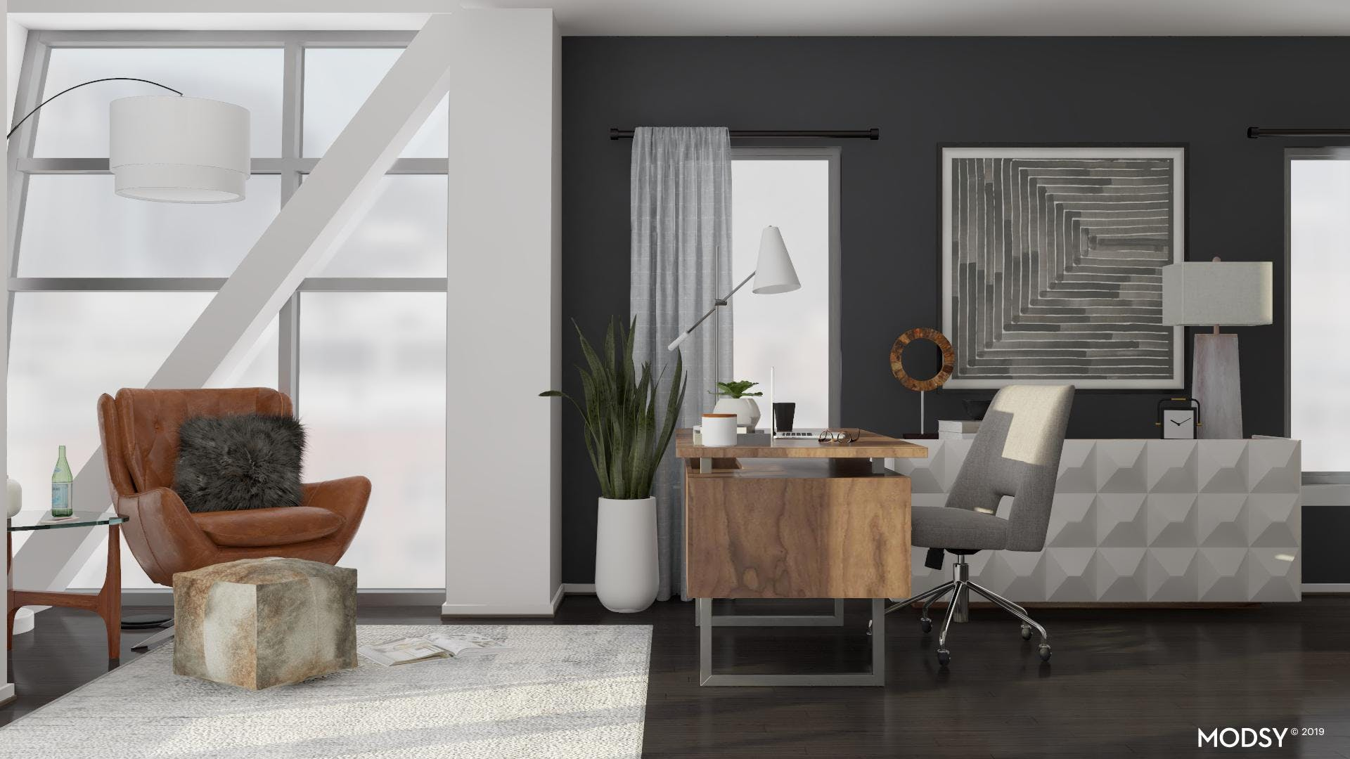 Mixing Neutrals In A Modern Office
