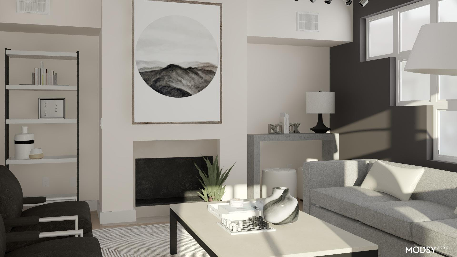 Circle Meets Square In A Modern Living Room