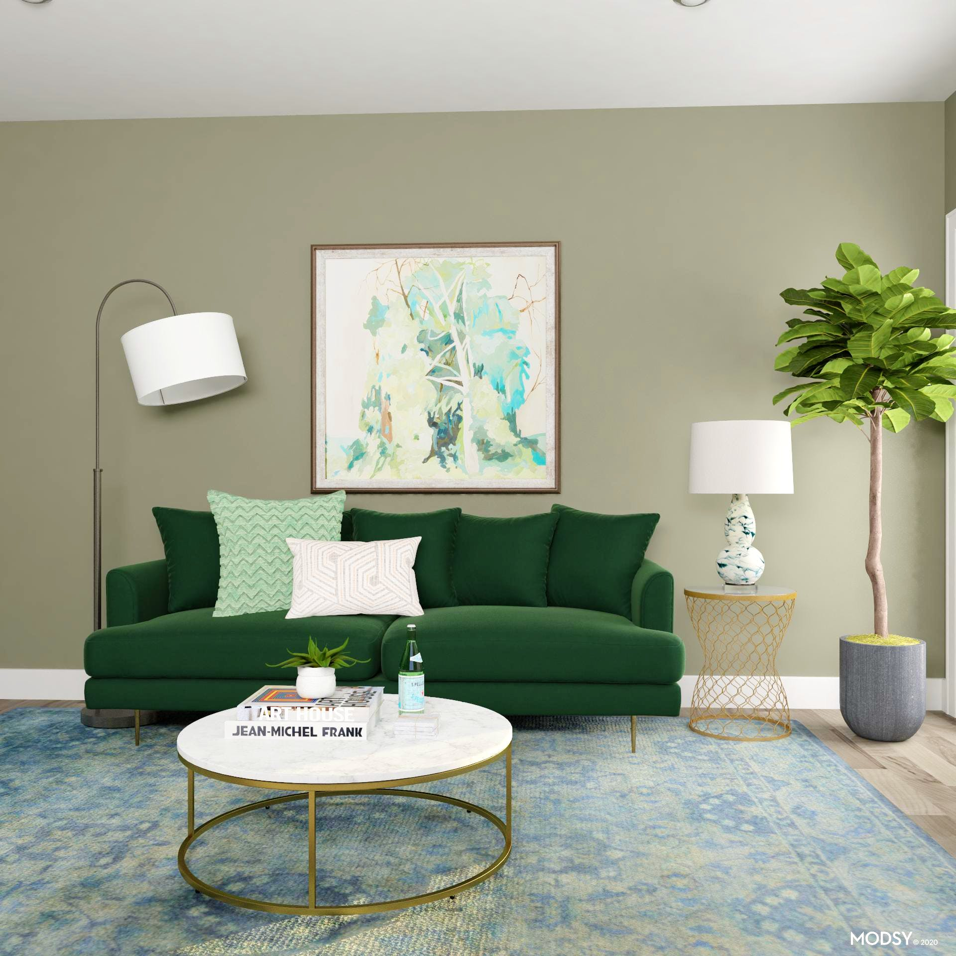 Earthy Glam Home Office Design