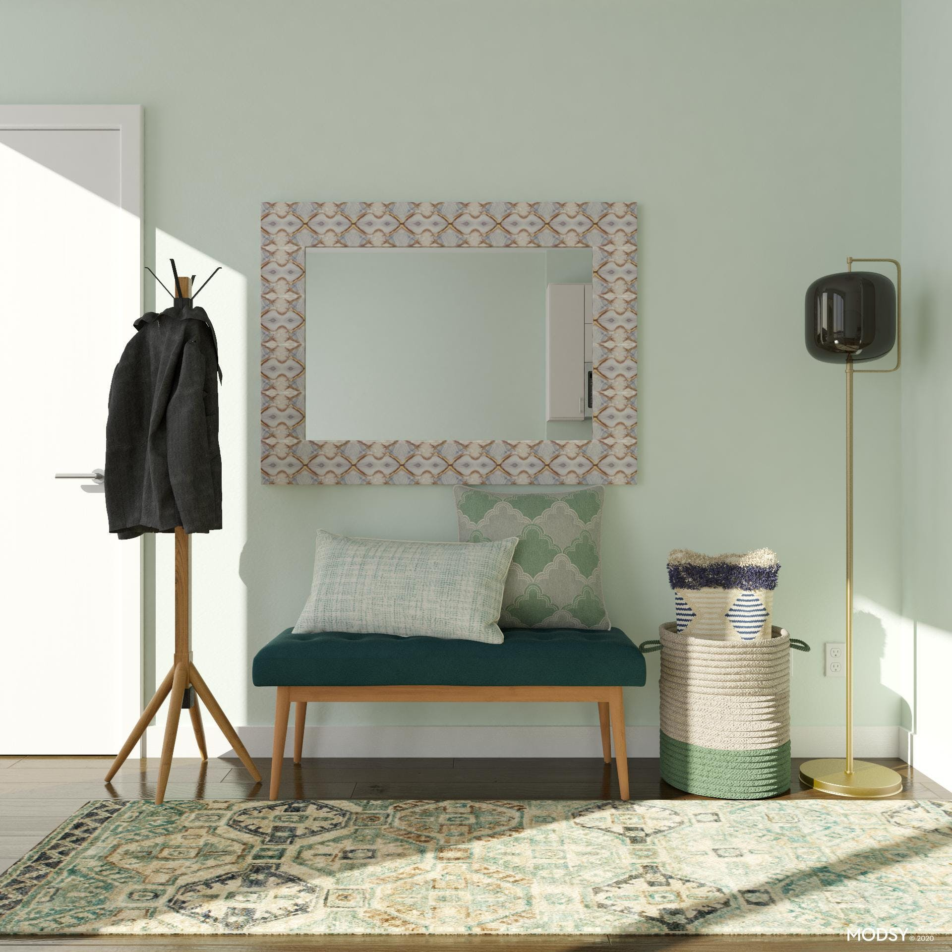 Mid-Century Entry: Cool Mint
