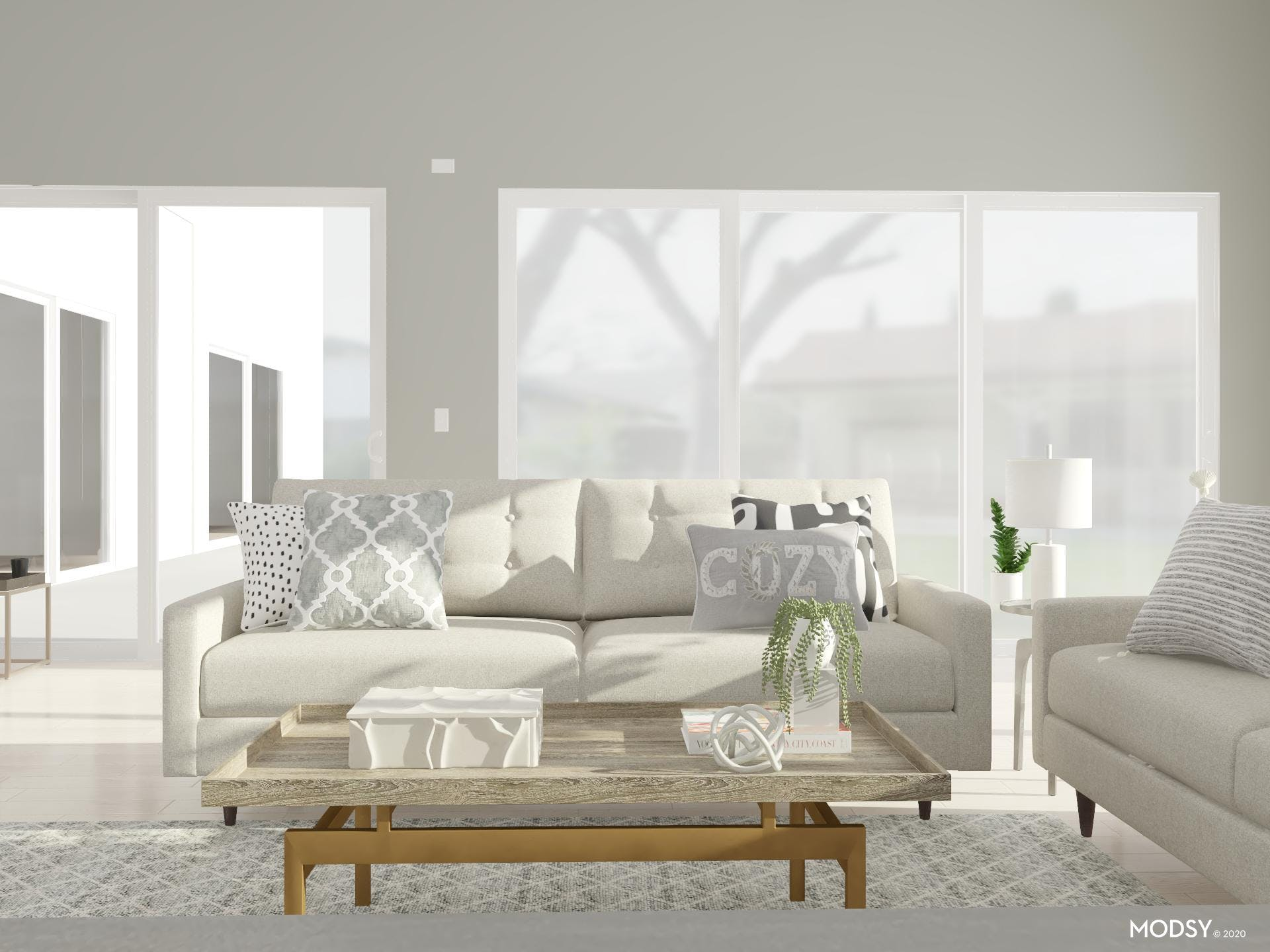 Creating Contrast in Neutral Living Space