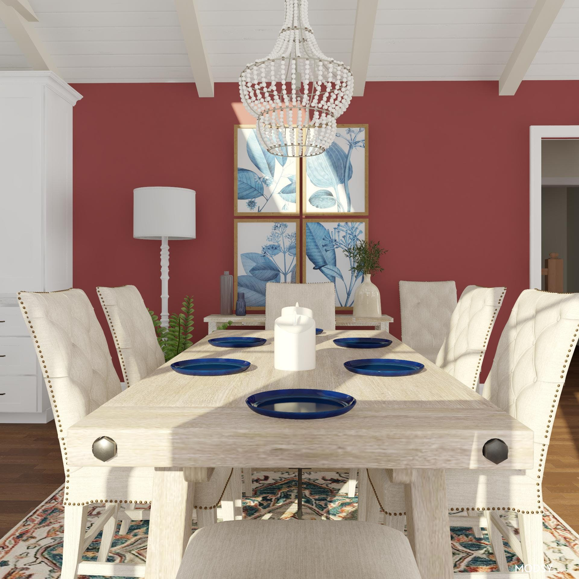 Bright and Traditional Dining Room