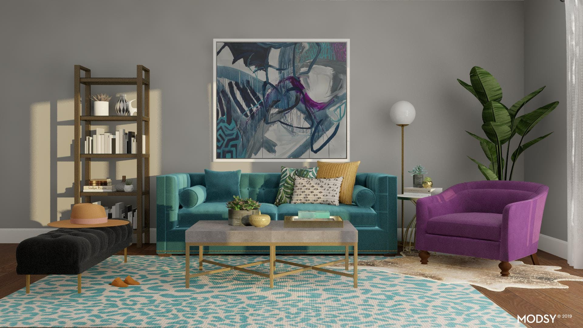 Chic Living Room with Eclectic Accents